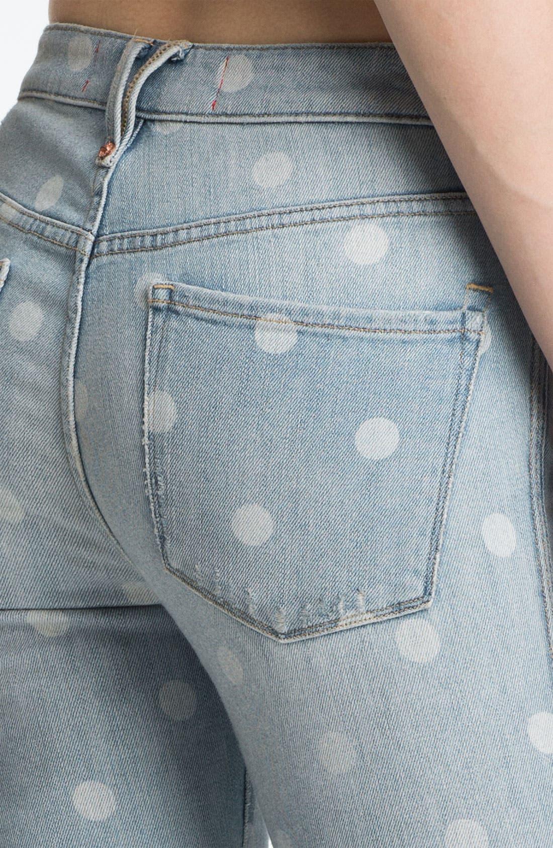 Distressed Print Skinny Jeans,                             Alternate thumbnail 2, color,                             400