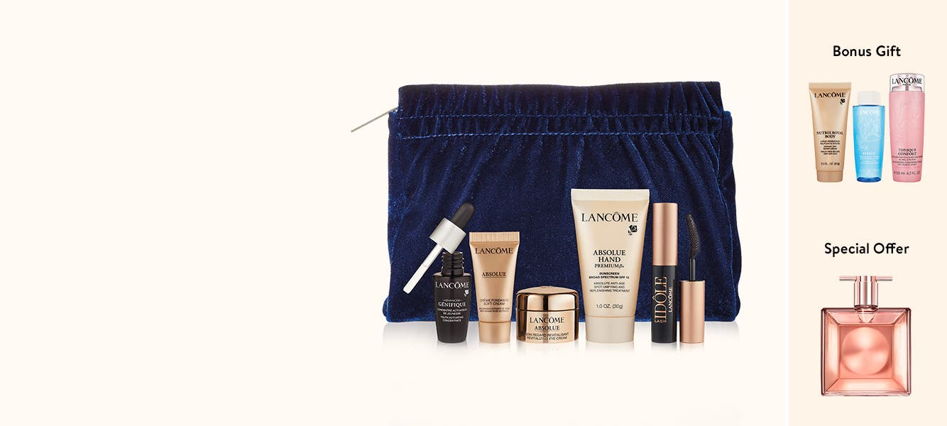Get your Lancôme gift with purchase. Plus, buy more, get more.