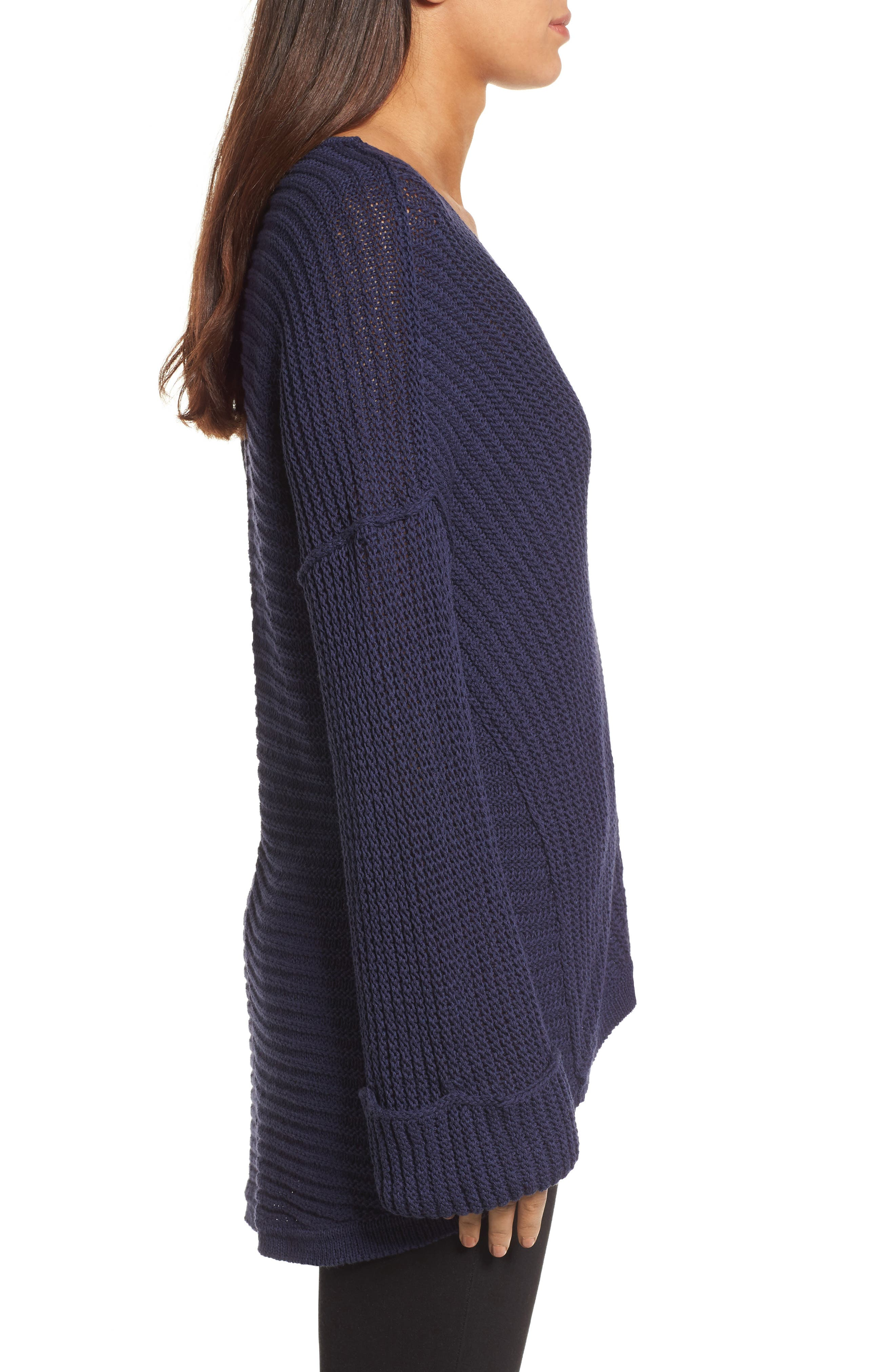 Cuffed Sleeve Sweater,                             Alternate thumbnail 9, color,
