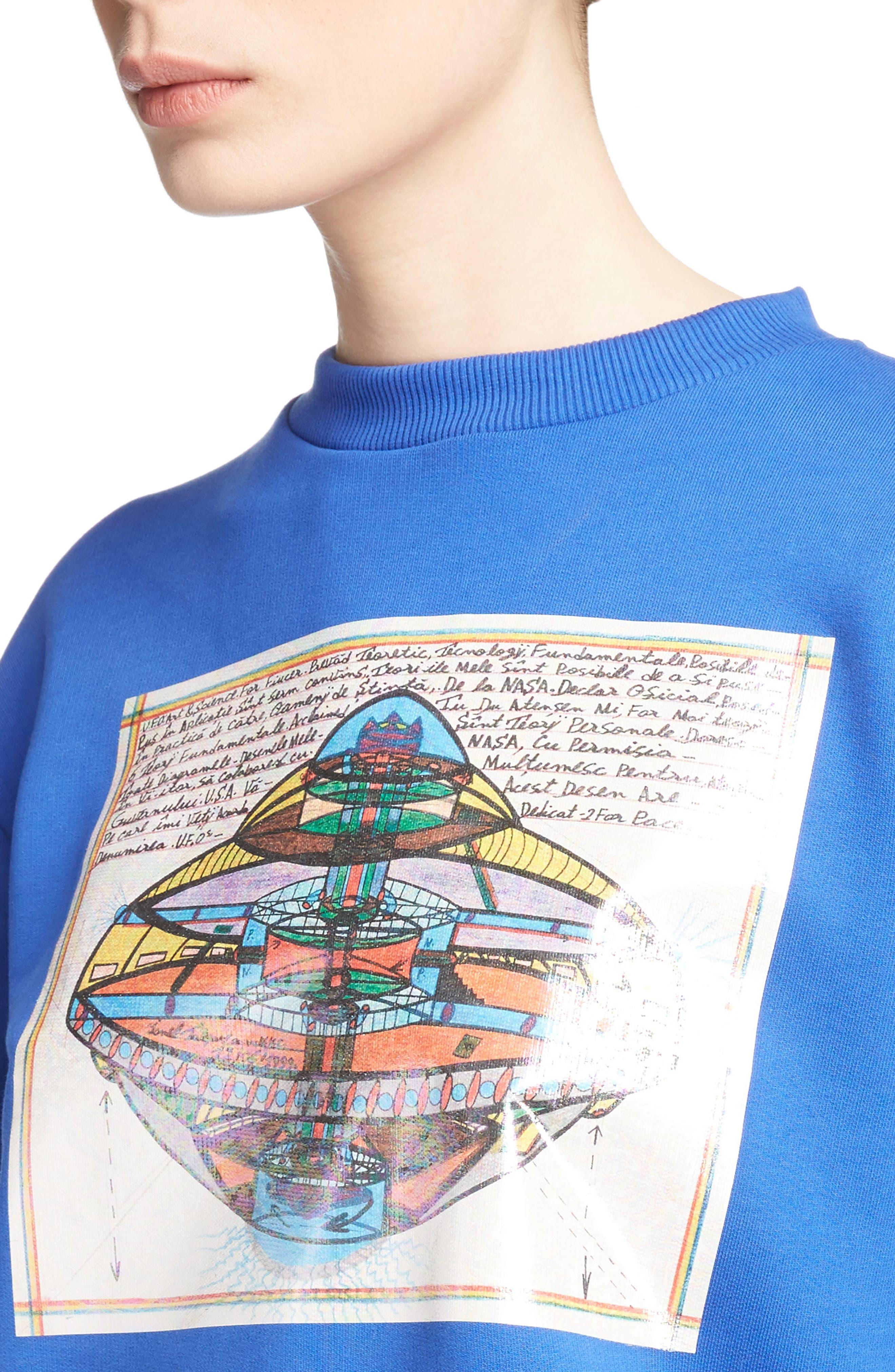 UFO Unisex Sweatshirt,                             Alternate thumbnail 4, color,