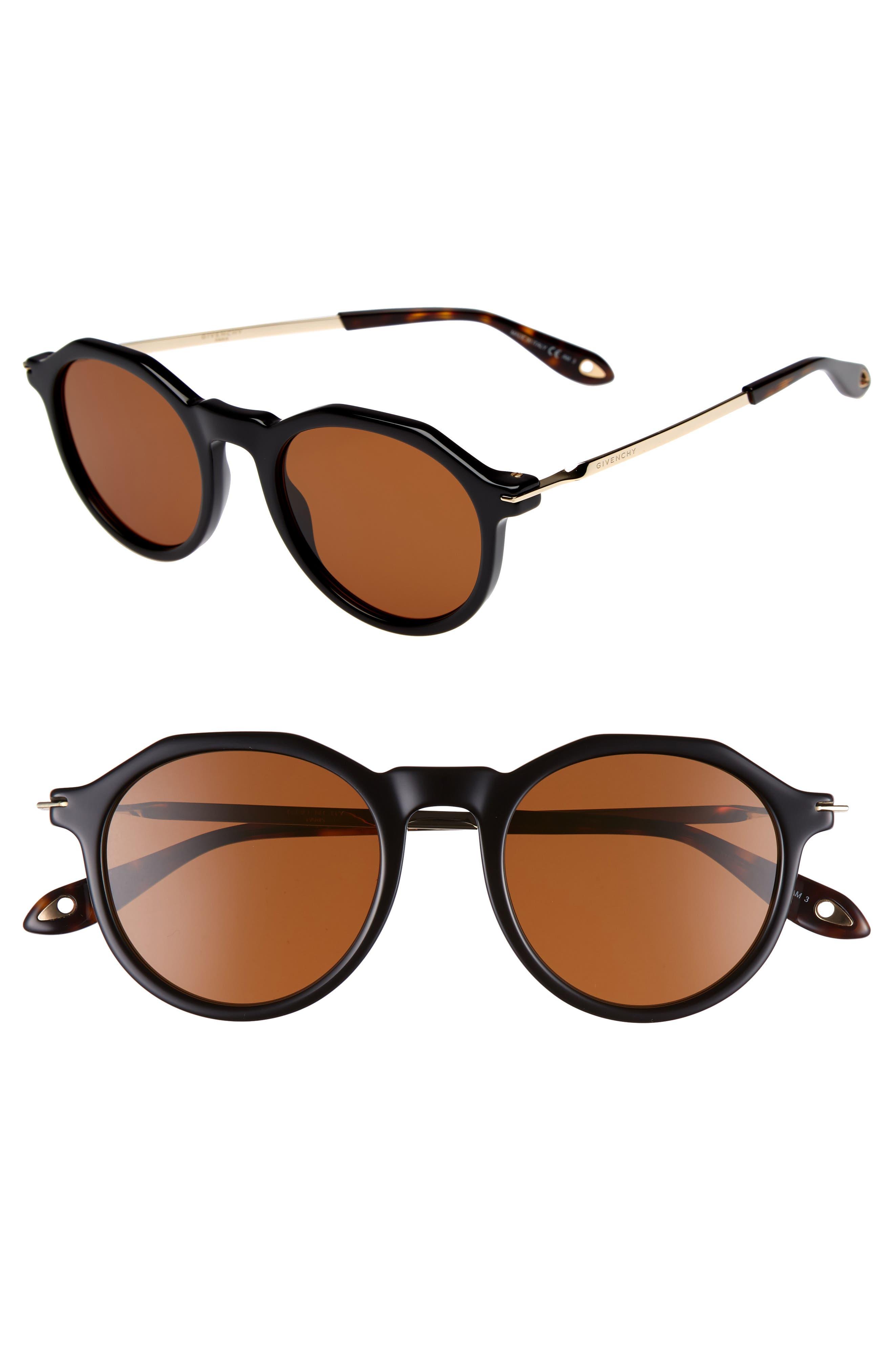 51mm Round Sunglasses,                             Main thumbnail 1, color,