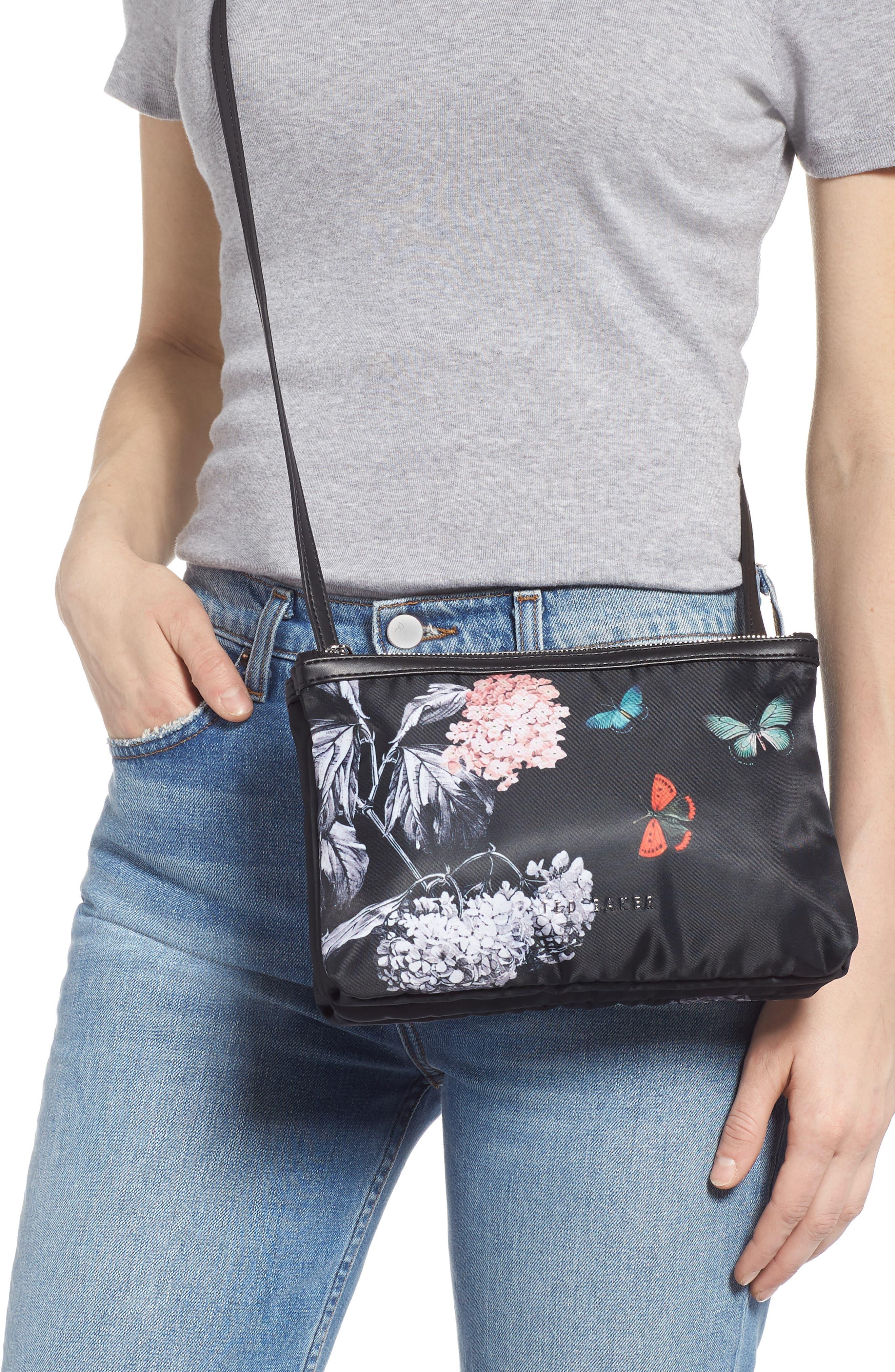 Myyaa Narrnia Nylon Crossbody Bag,                             Alternate thumbnail 2, color,                             BLACK