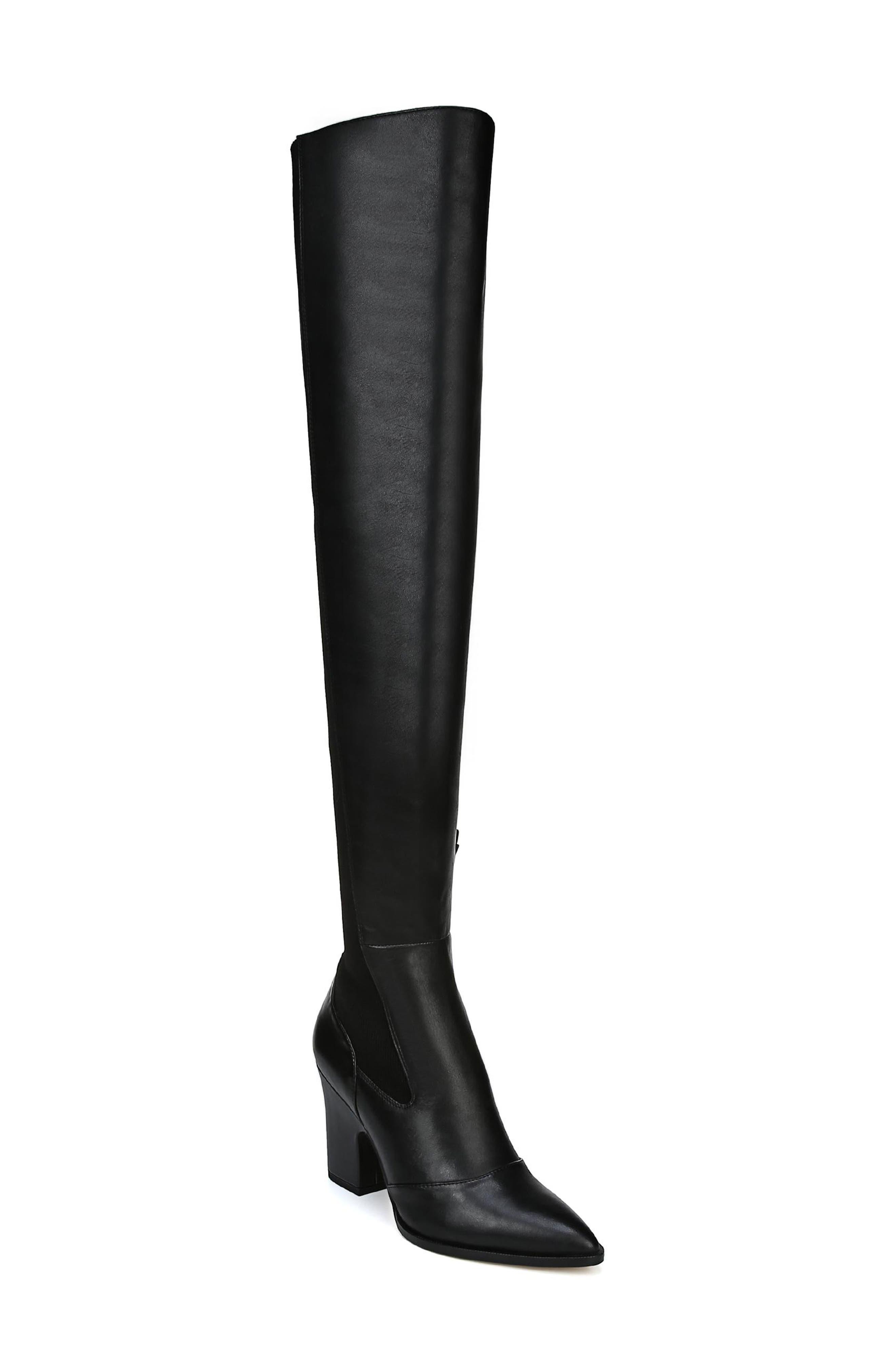 Natasha Over the Knee Boot,                         Main,                         color, BLACK LEATHER