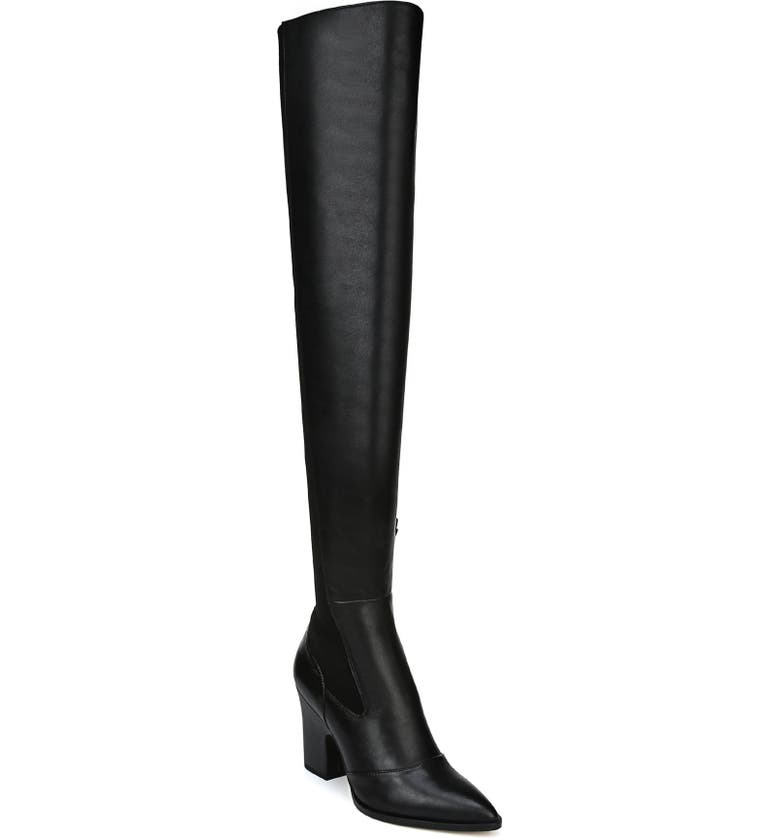 678e464e44a Sam Edelman Natasha Stretch Leather Over-The-Knee Boots In Black Leather