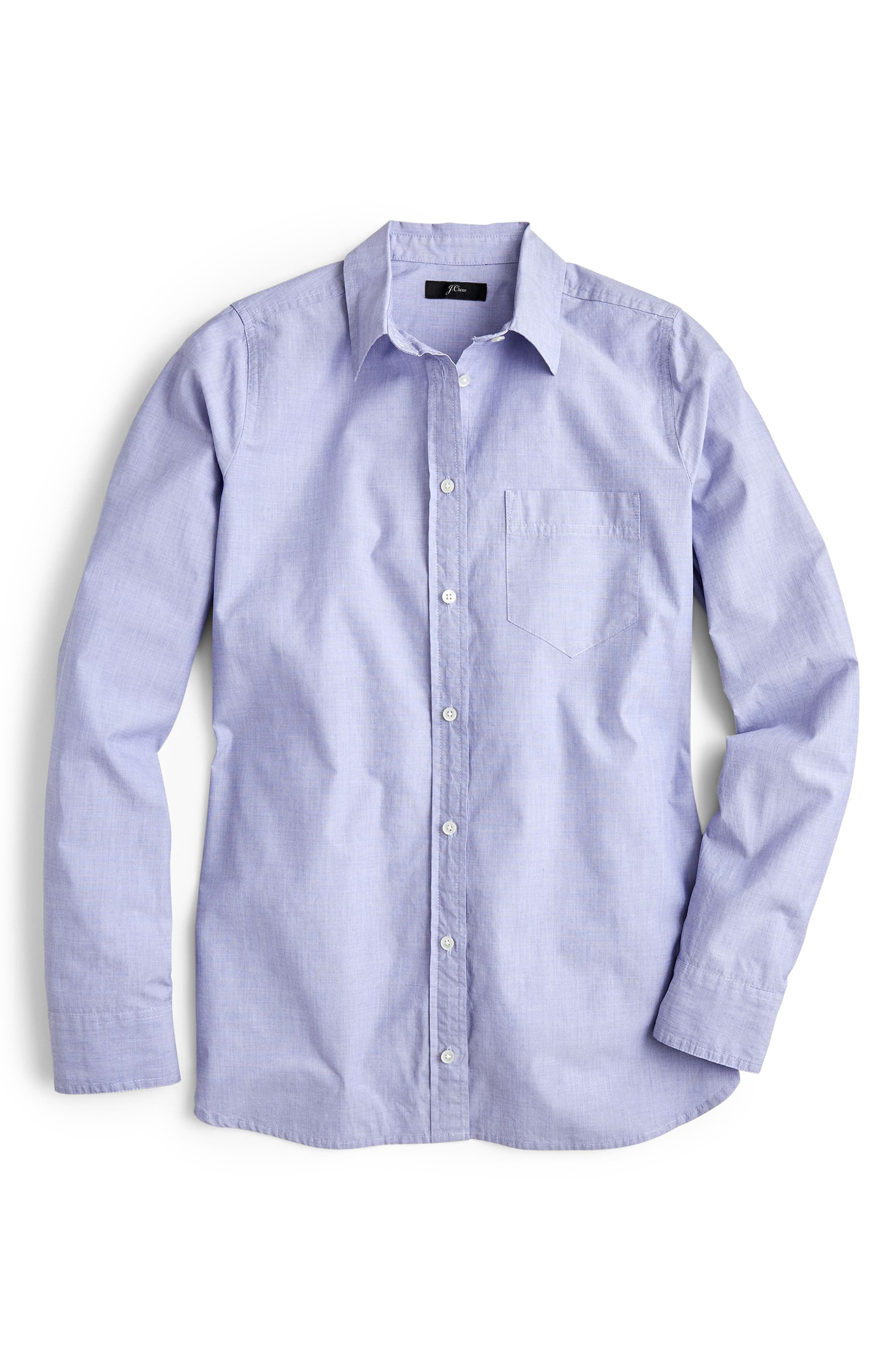 J.CREW End on End Boy Shirt, Main, color, PERI