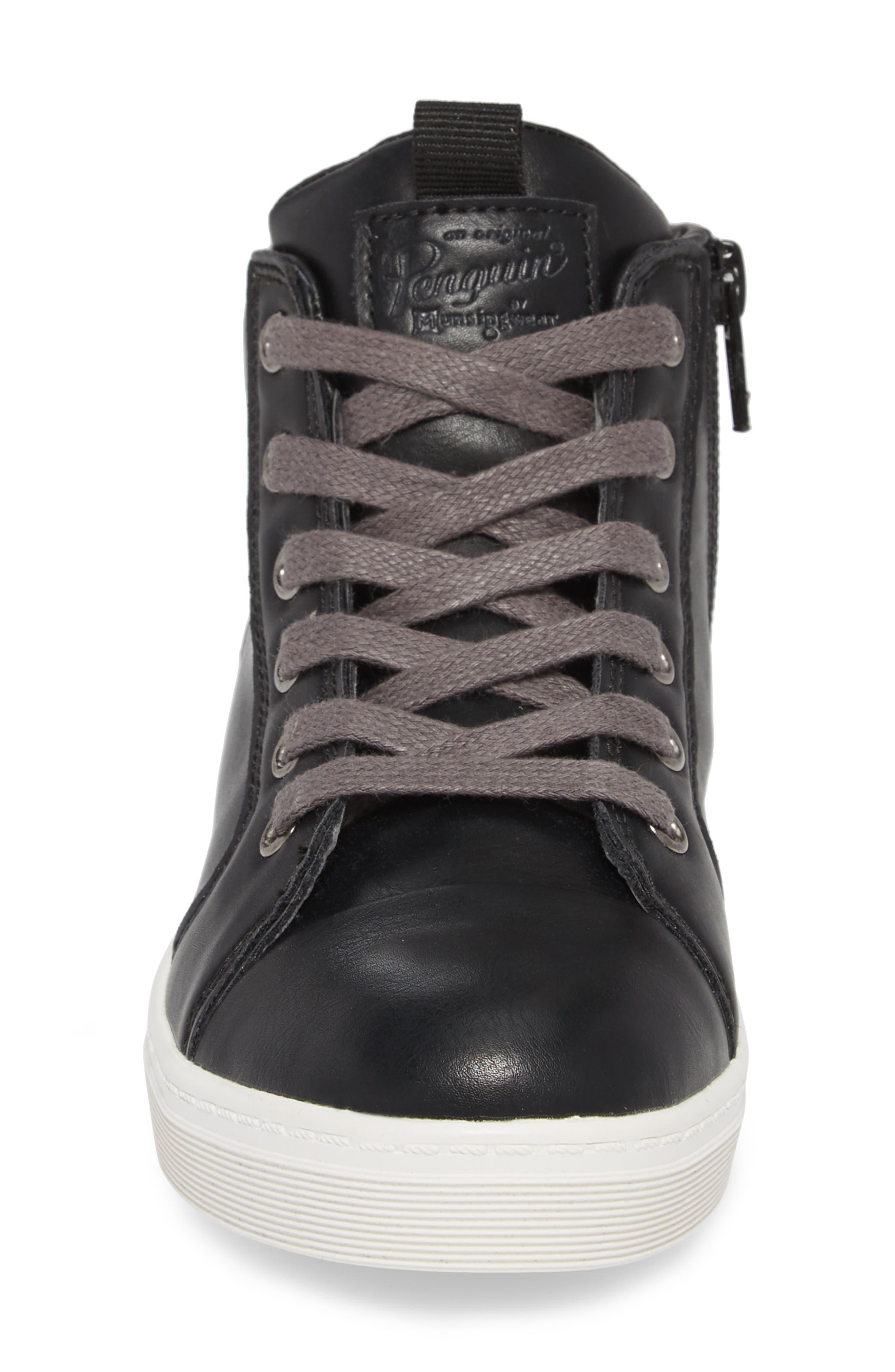 Carson High Top Sneaker,                             Alternate thumbnail 4, color,                             BLACK