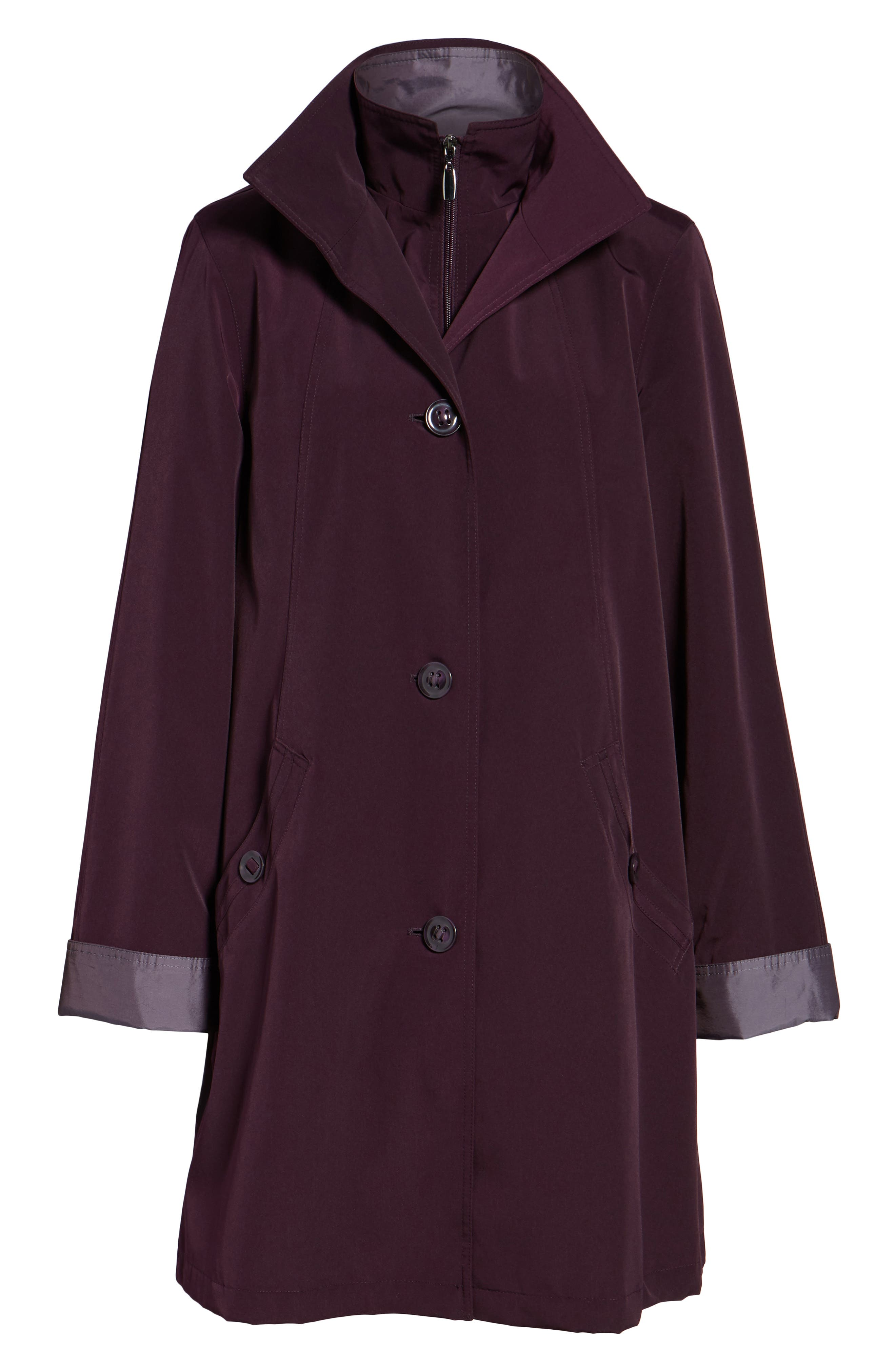 A-Line Raincoat with Detachable Hood & Liner,                             Alternate thumbnail 20, color,