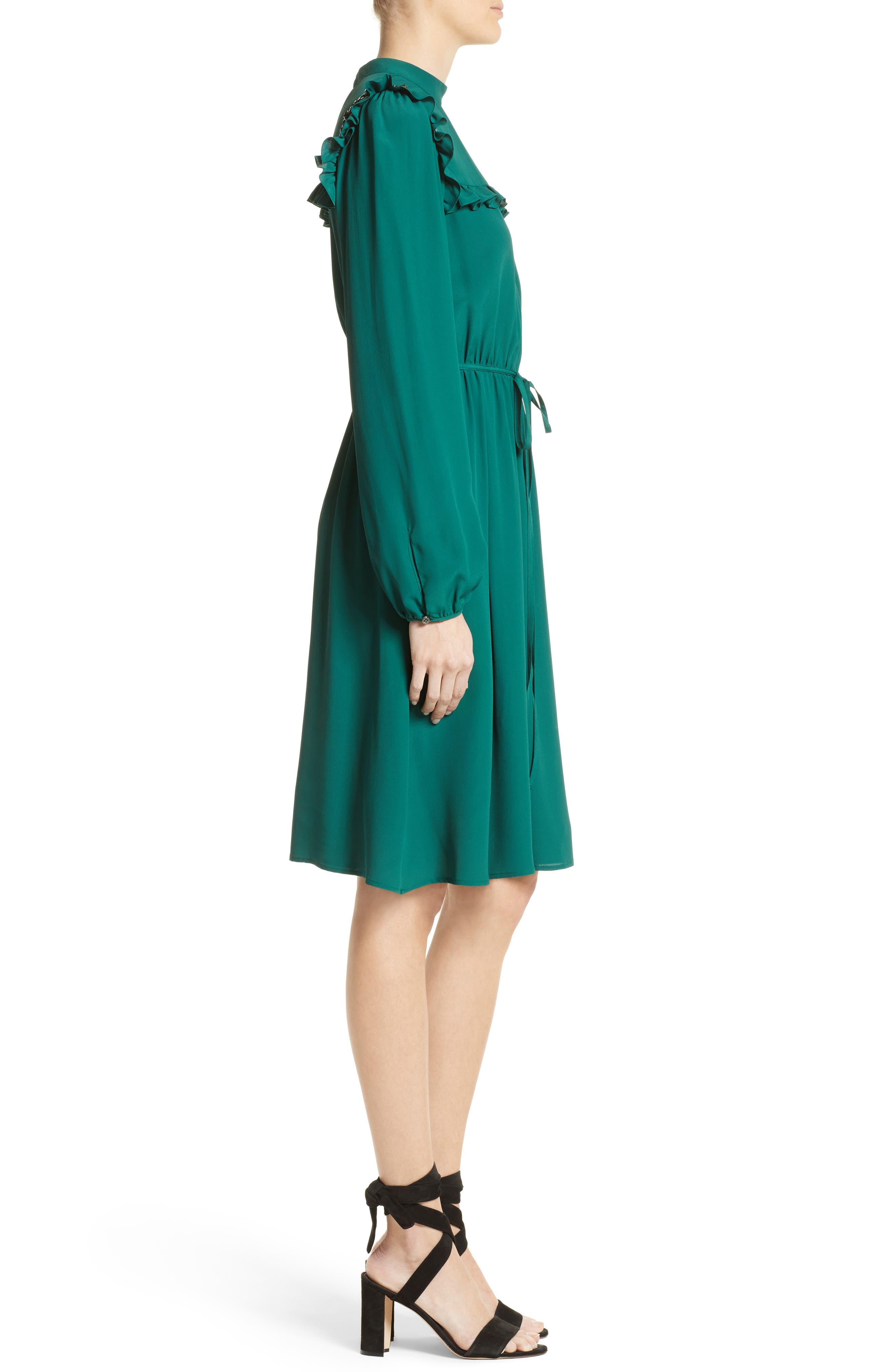 Crystal Embellished Ruffle Dress,                             Alternate thumbnail 3, color,                             300