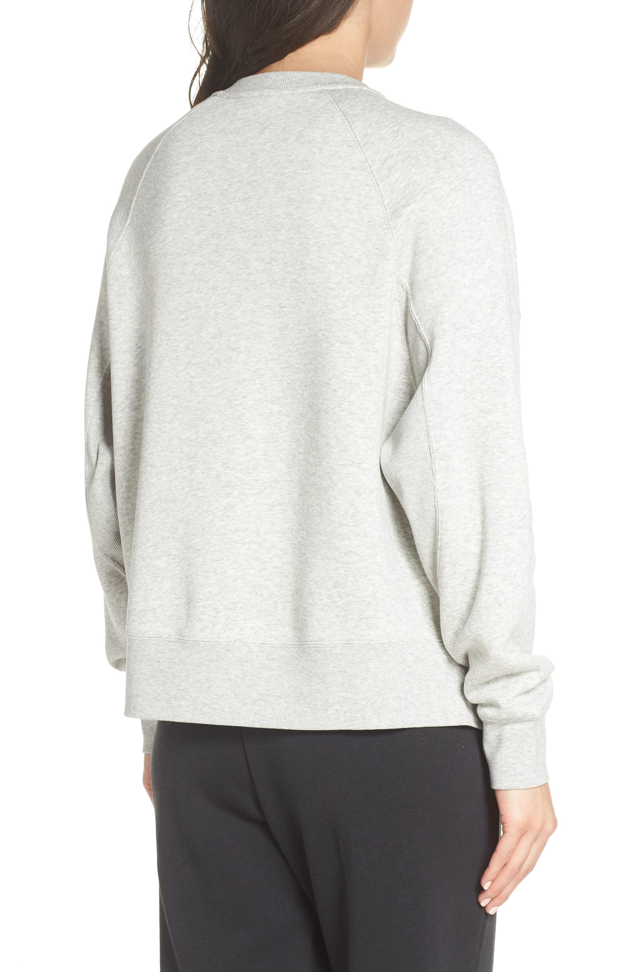 Sportswear Rally Sweatshirt,                             Alternate thumbnail 2, color,                             GREY HEATHER/ WHITE