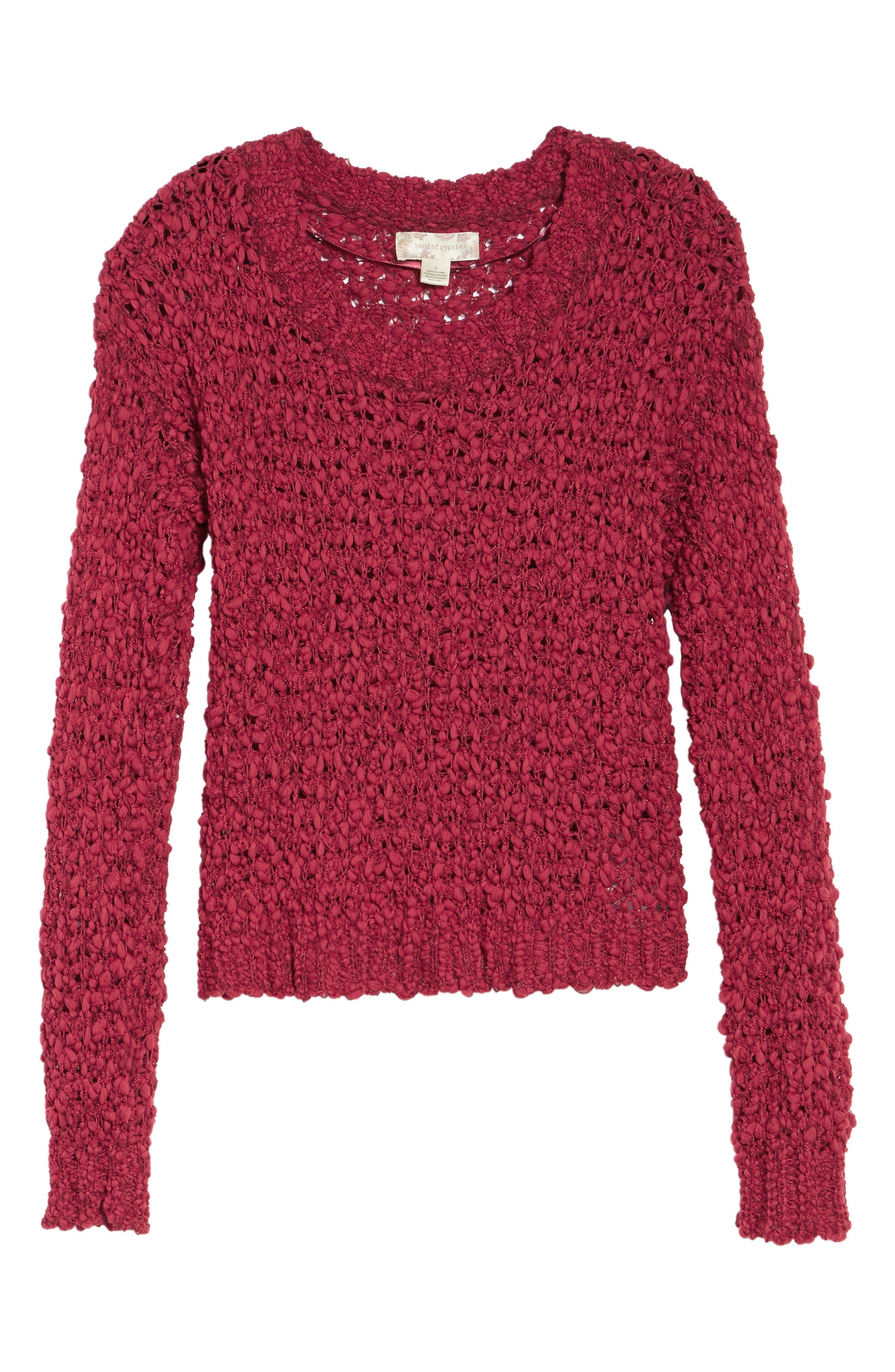 Knit Sweater,                             Alternate thumbnail 6, color,                             628