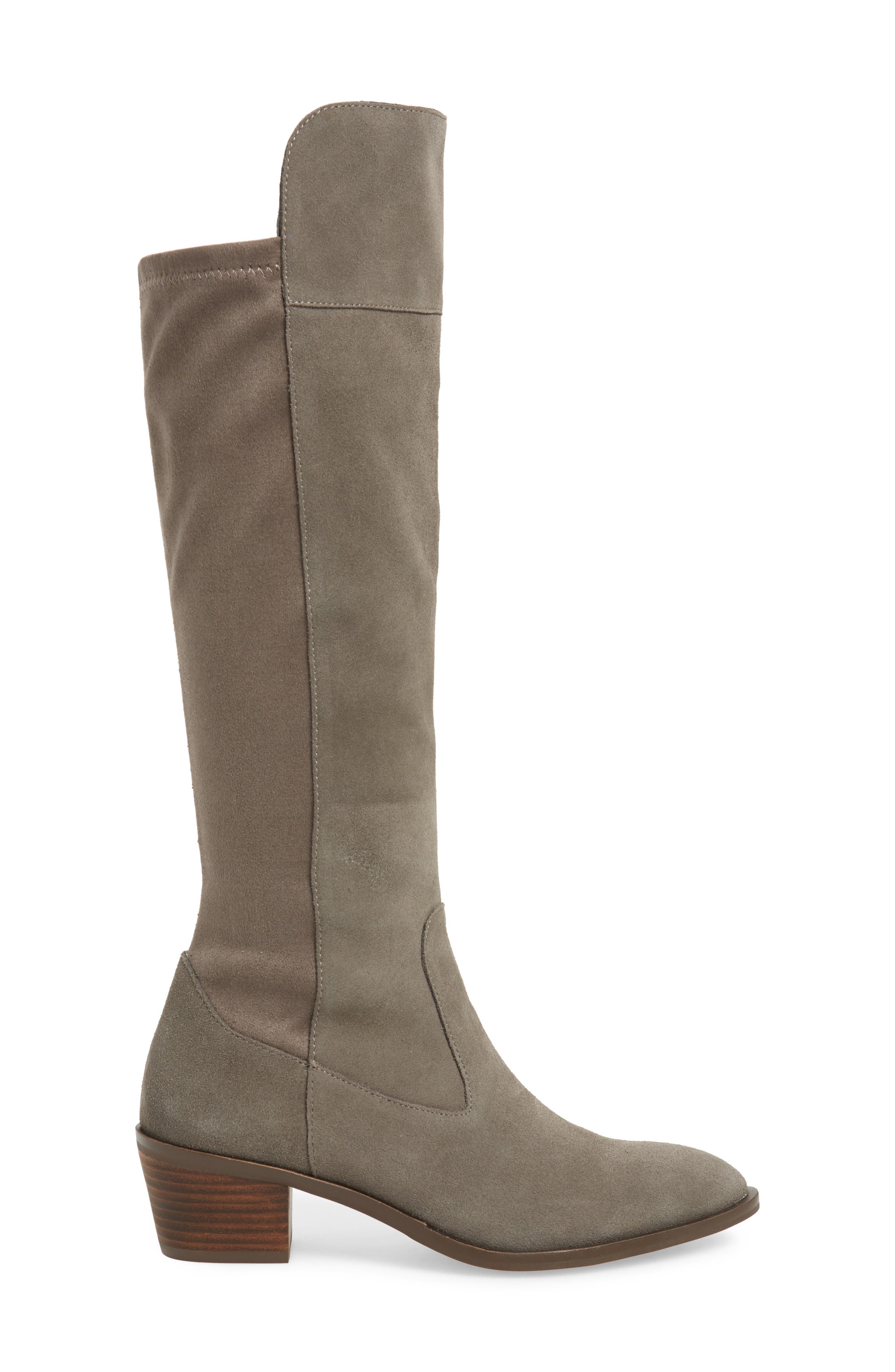 SOLE SOCIETY,                             Noamie Knee High Boot,                             Alternate thumbnail 3, color,                             LONDON RAIN SUEDE