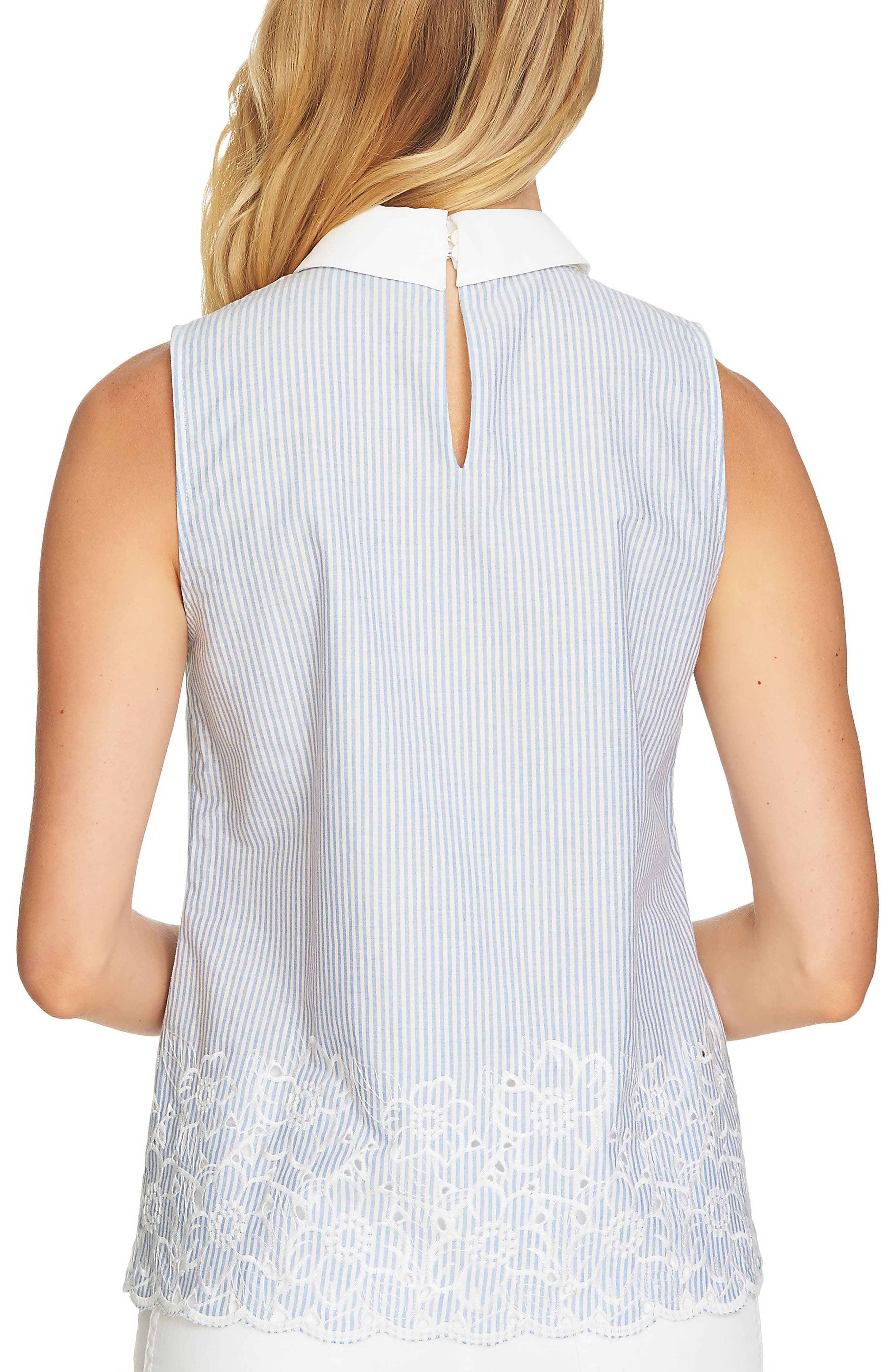 Yarn Dyed Collared Sleeveless Blouse,                             Alternate thumbnail 2, color,                             430