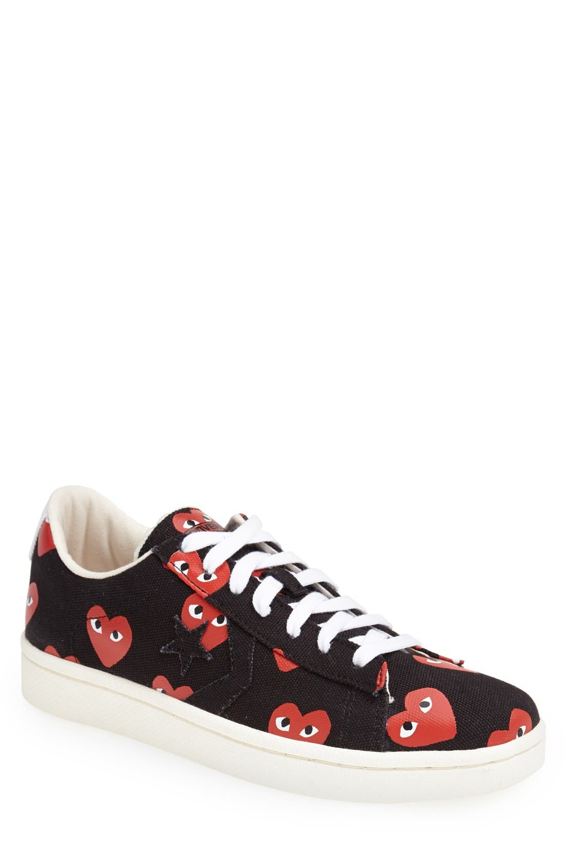 PLAY x Converse Chuck Taylor<sup>®</sup> Low Top Sneaker,                             Main thumbnail 1, color,                             001