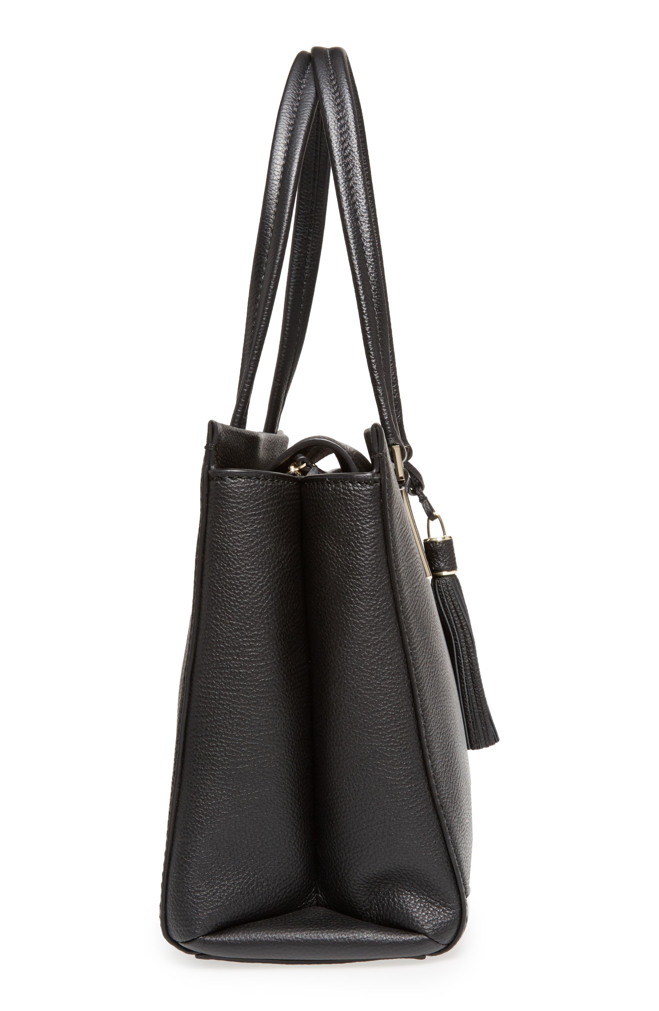 kingston drive - bartlett leather satchel,                             Alternate thumbnail 5, color,                             001