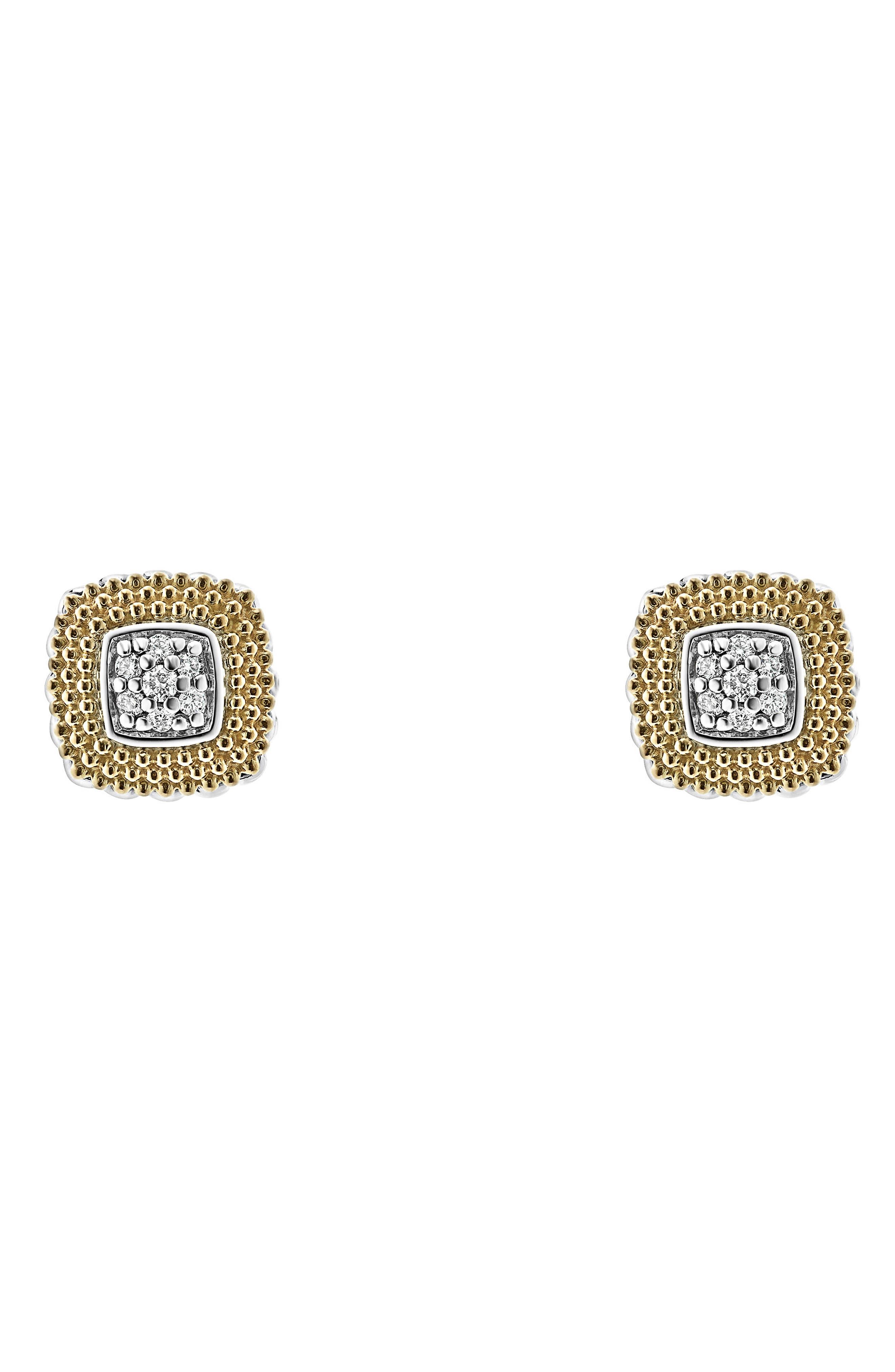 Lux Diamond Stud Earrings,                         Main,                         color, DIAMOND