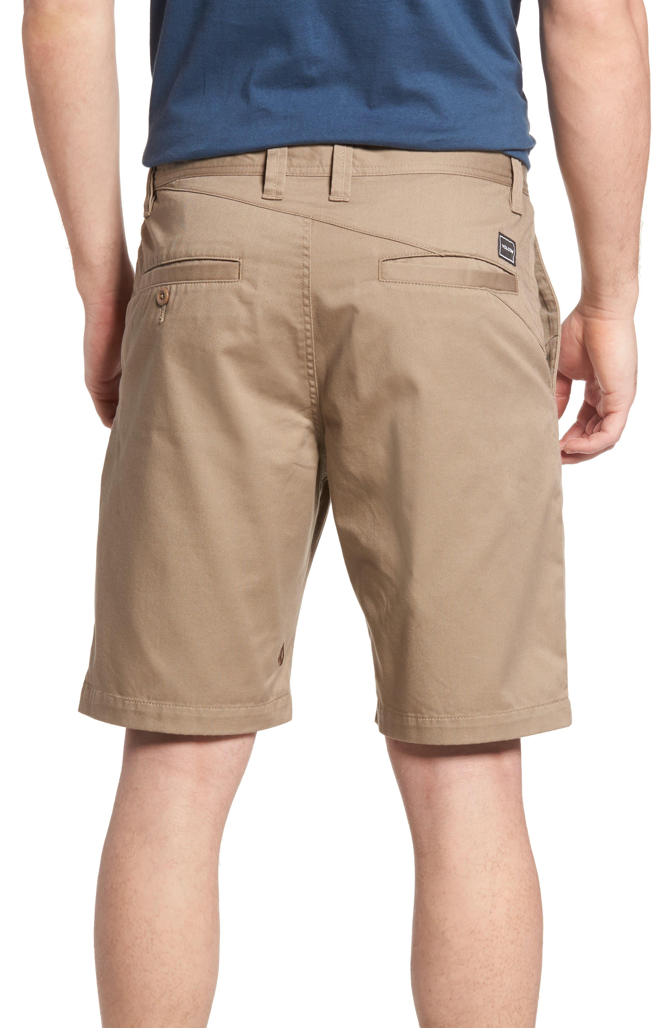Modern Chino Shorts,                             Alternate thumbnail 2, color,                             KHAKI