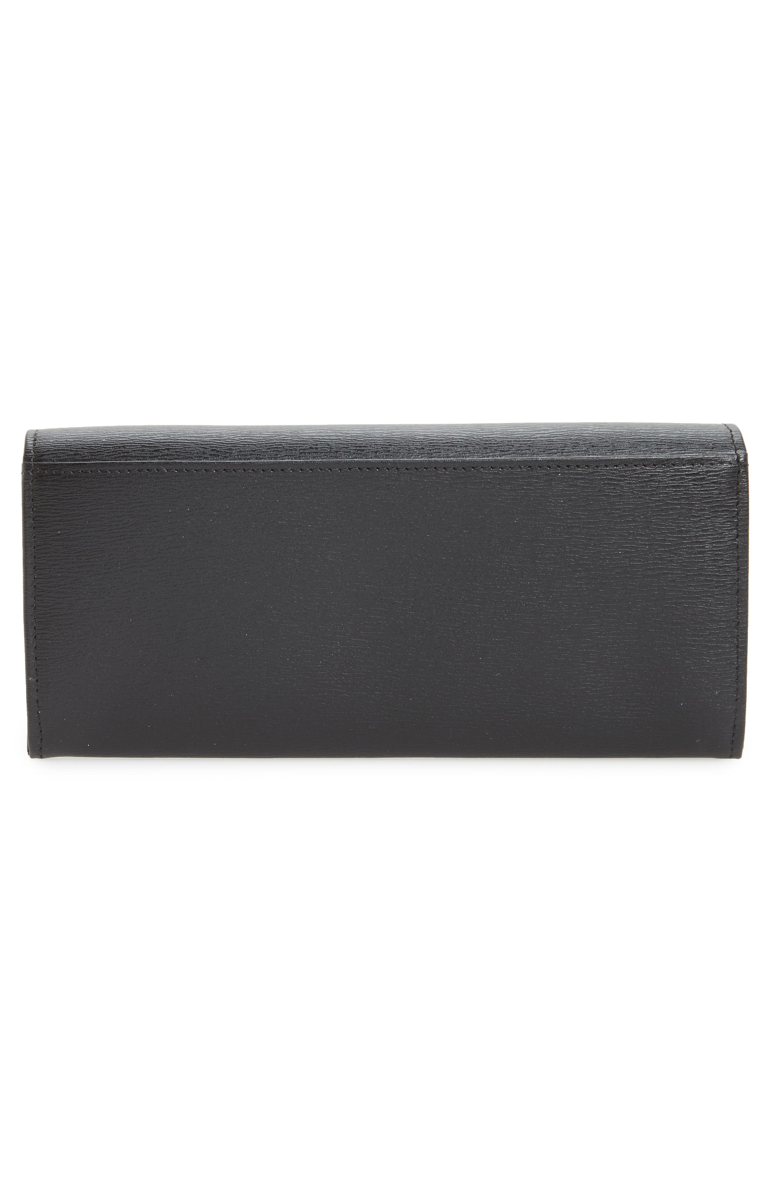 Roseau Leather Continental Wallet,                             Alternate thumbnail 3, color,                             002