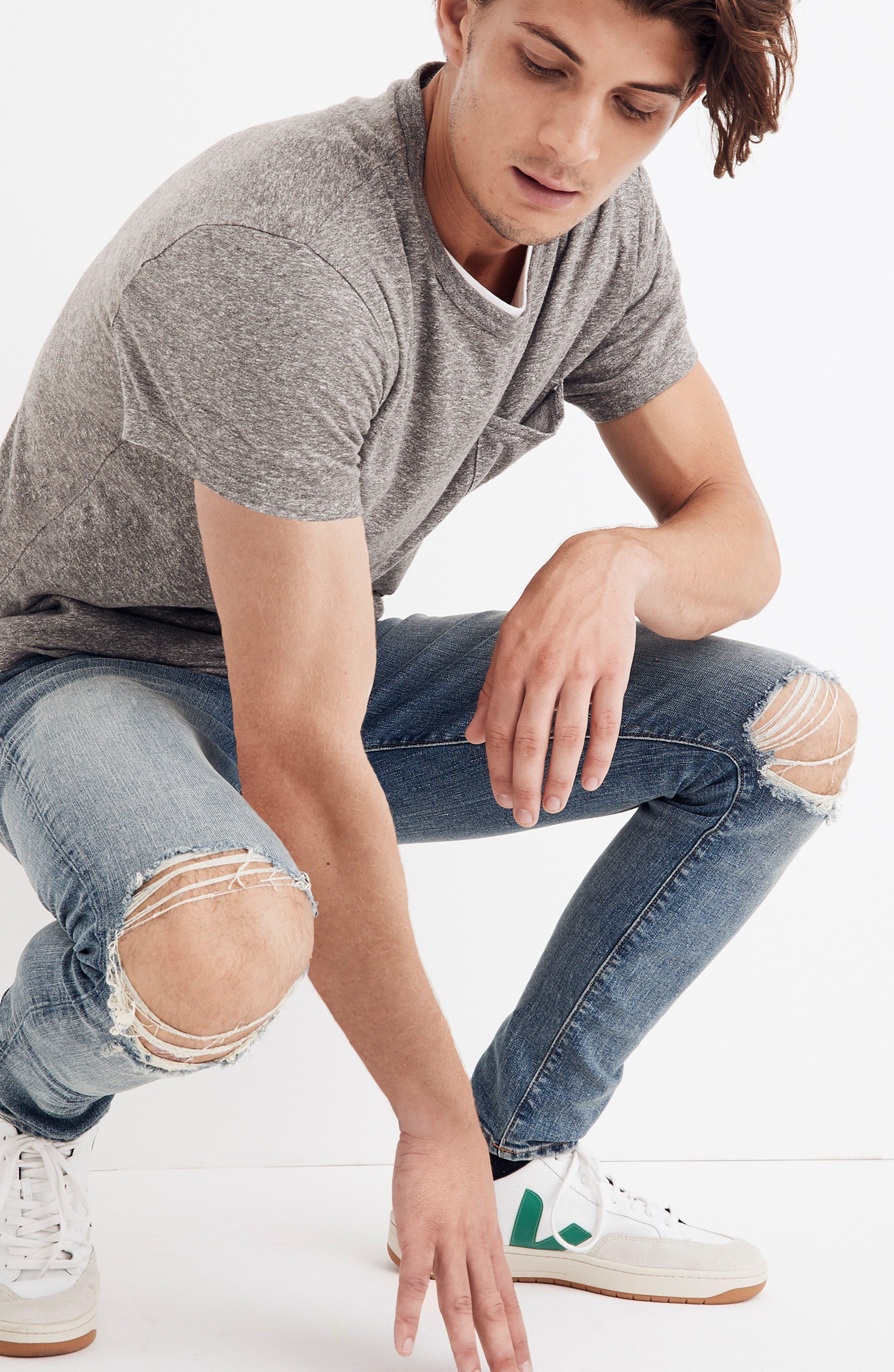 Skinny Fit Jeans,                             Alternate thumbnail 4, color,                             VINTAGE LIGHT