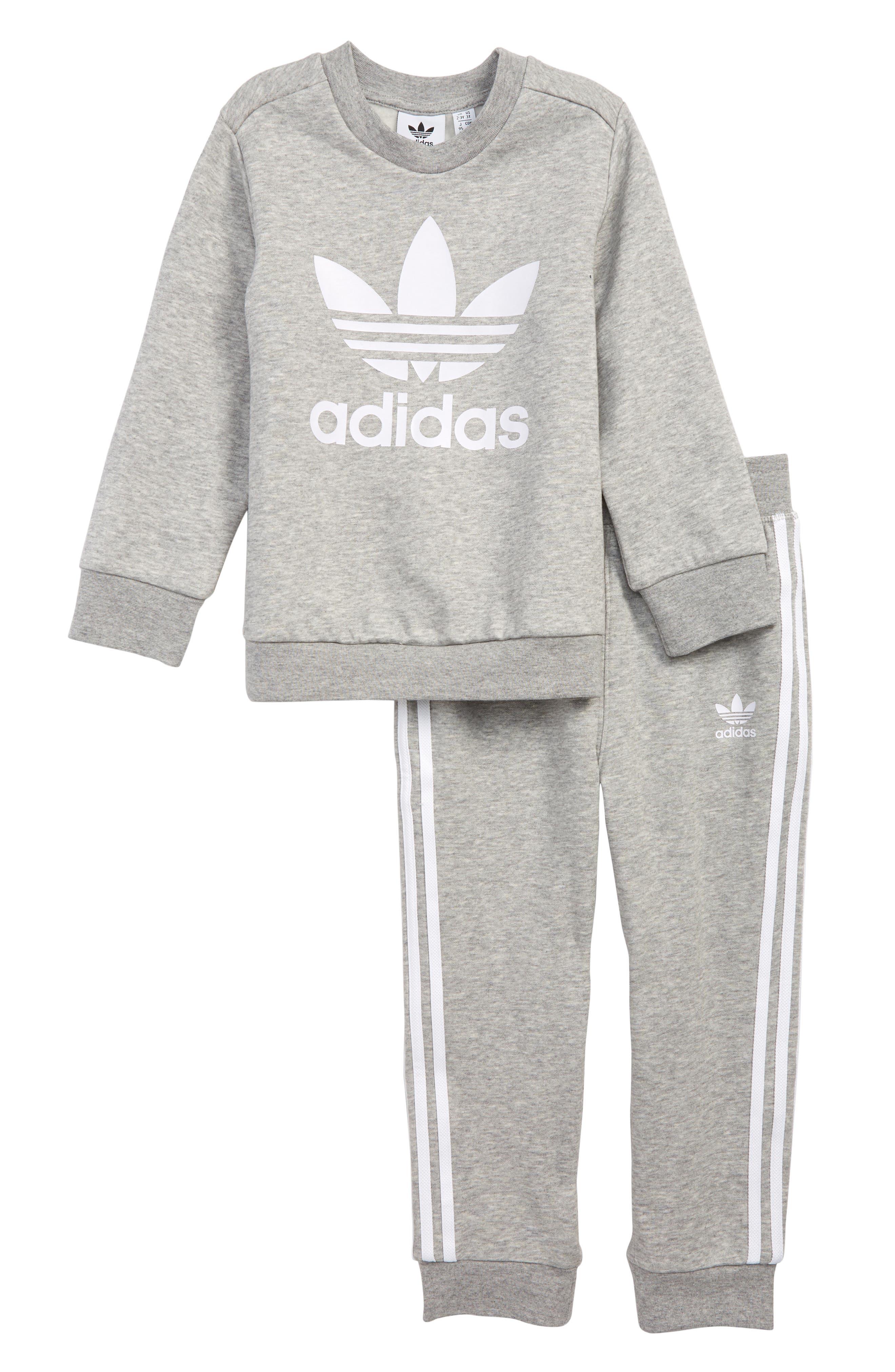 Toddler Boys Adidas Originals Logo Sweatshirt  Sweatpants Set