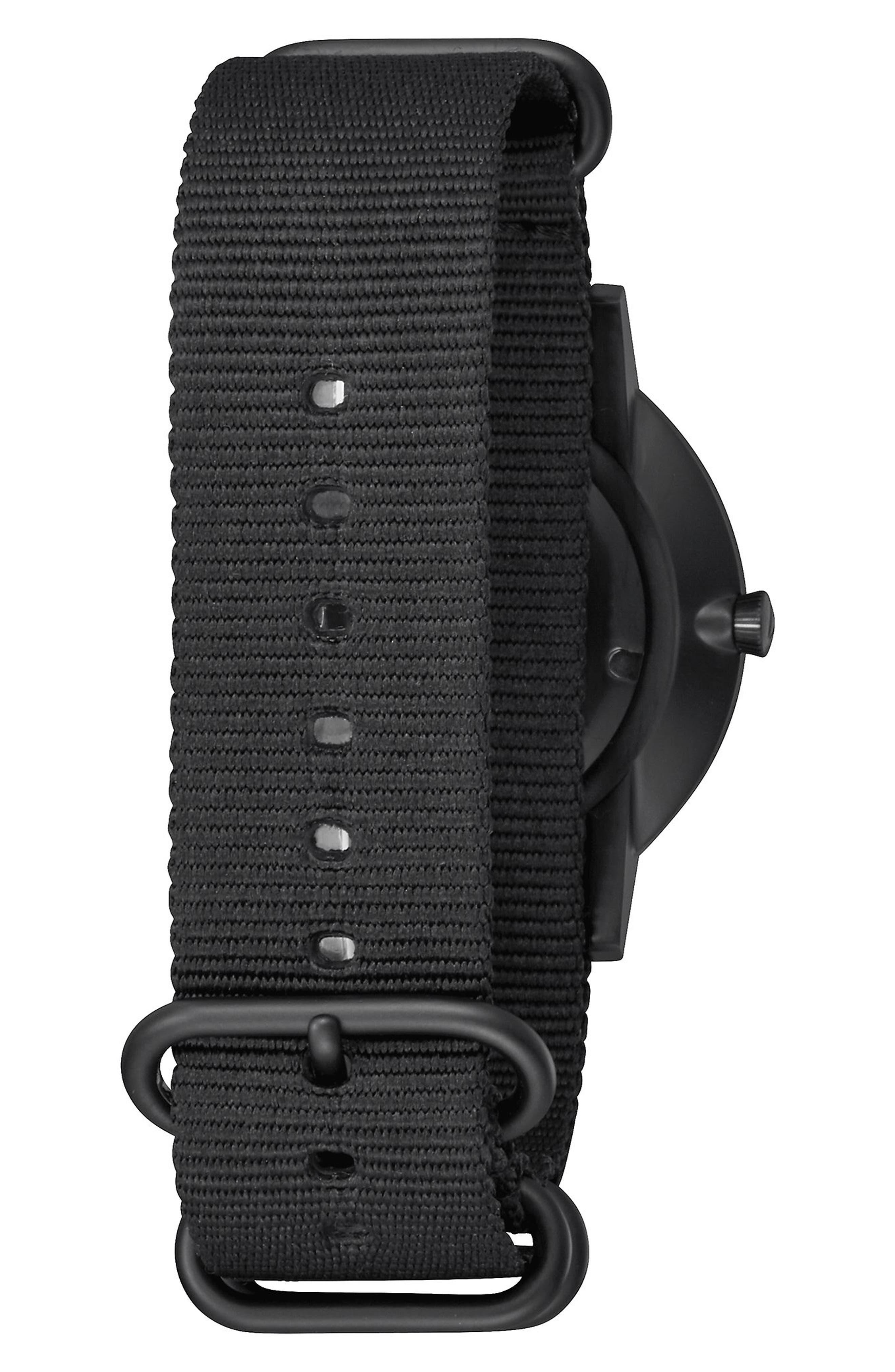 Porter Nylon Strap Watch, 40mm,                             Alternate thumbnail 2, color,                             001