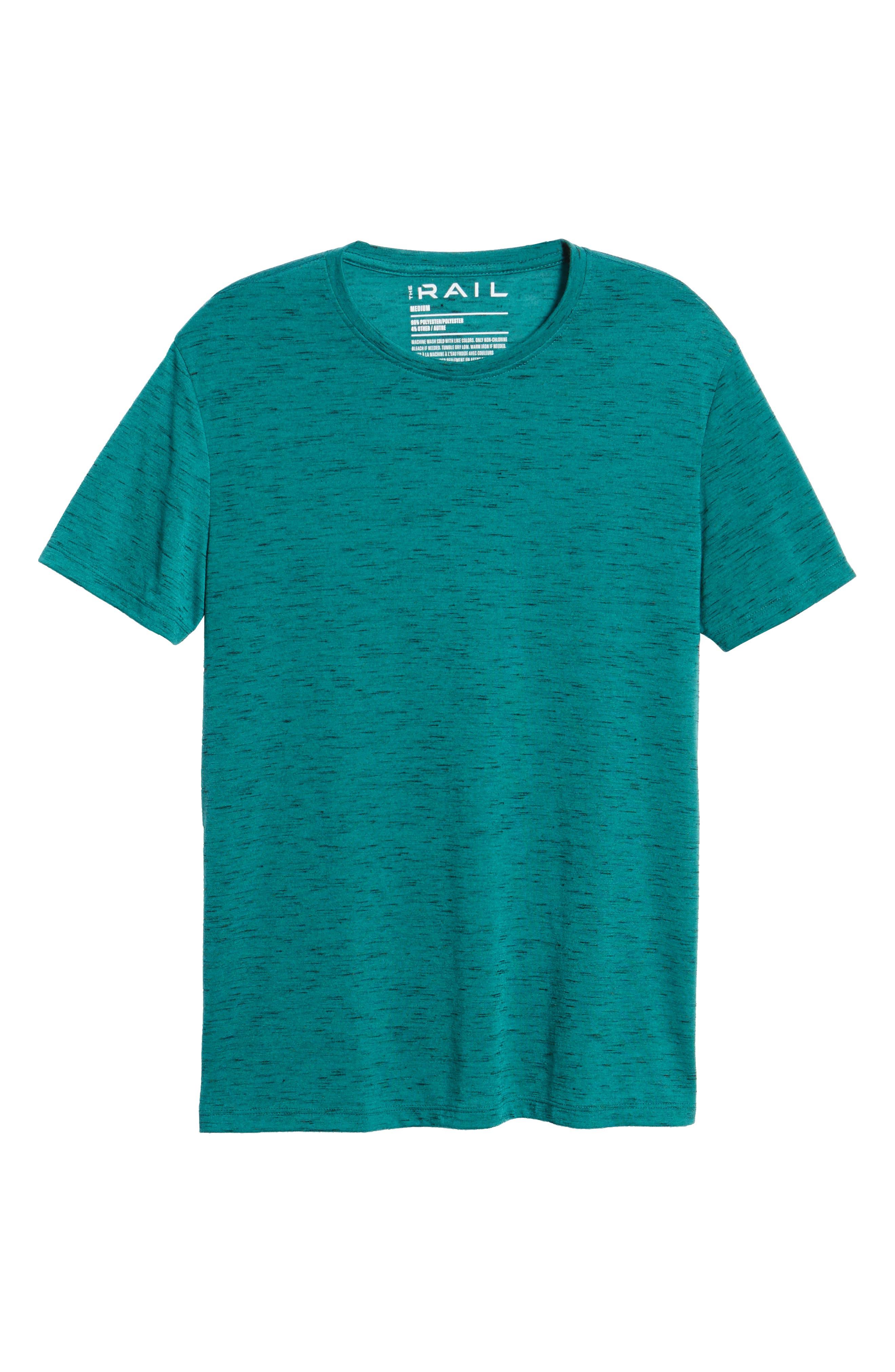 Streaky T-Shirt,                             Alternate thumbnail 6, color,                             TEAL GREEN- BLACK