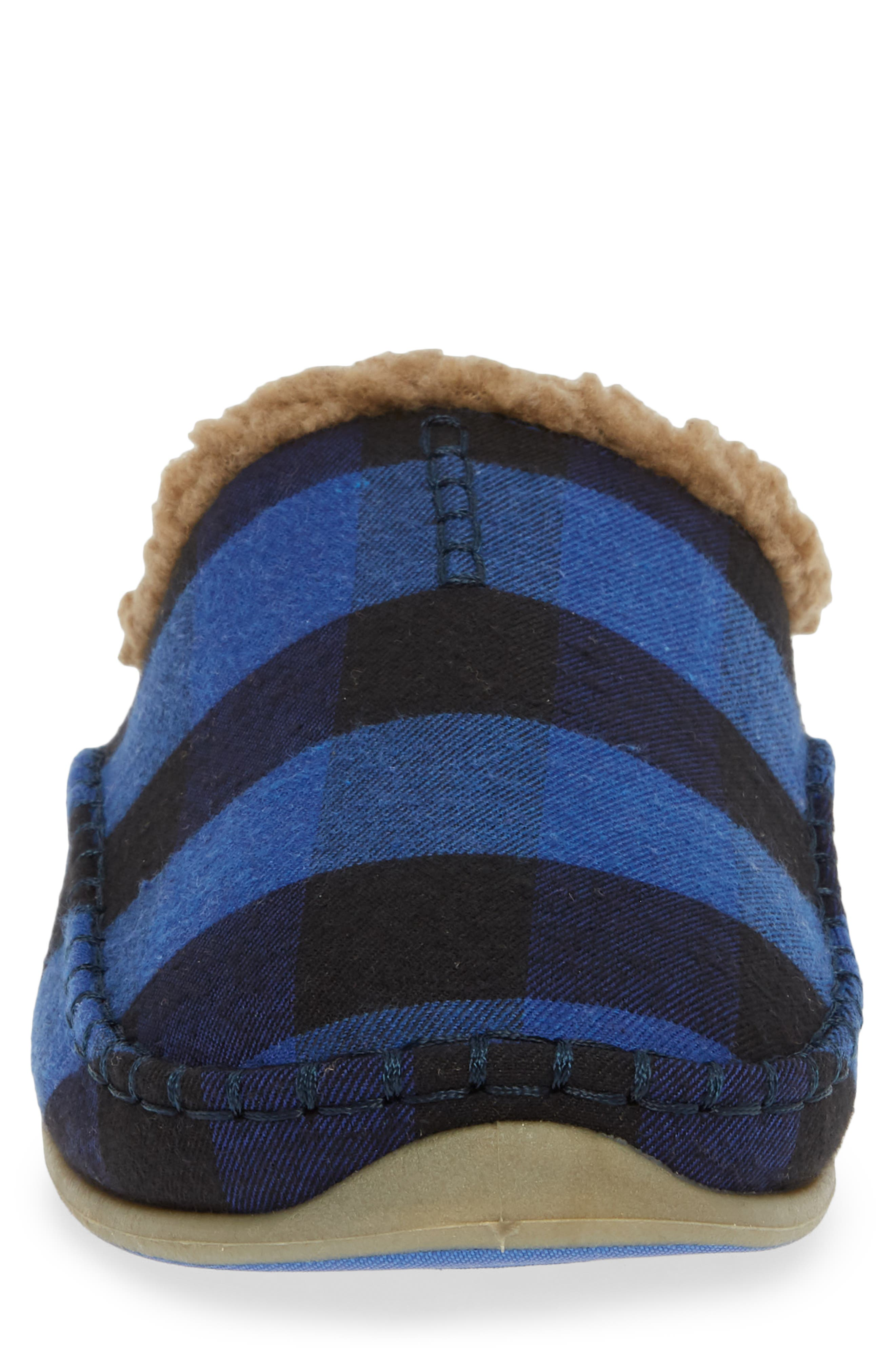 Nordic Slipper,                             Alternate thumbnail 4, color,                             BLUE / BLACK