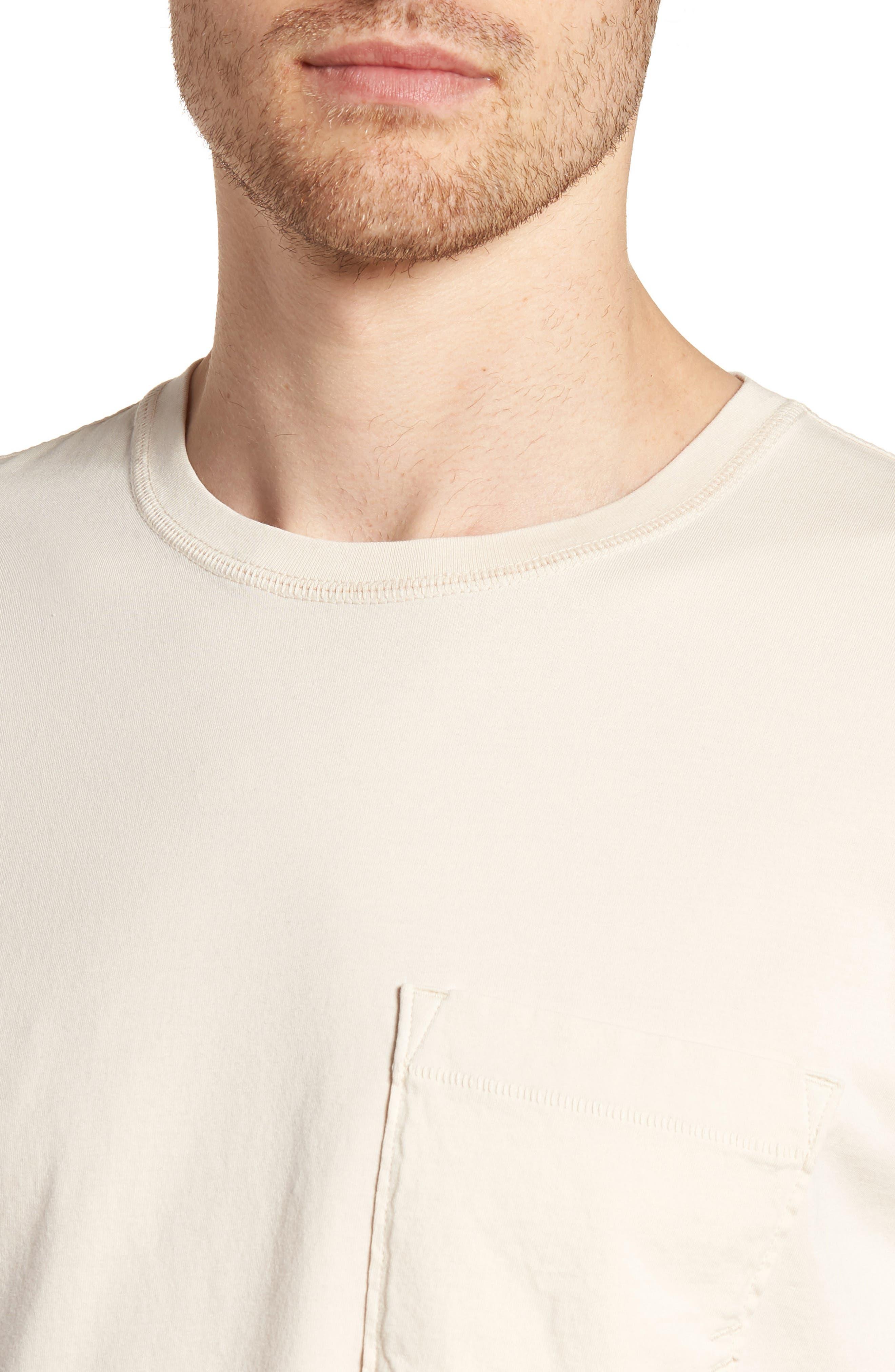 Crewneck T-Shirt,                             Alternate thumbnail 4, color,                             BLUSH