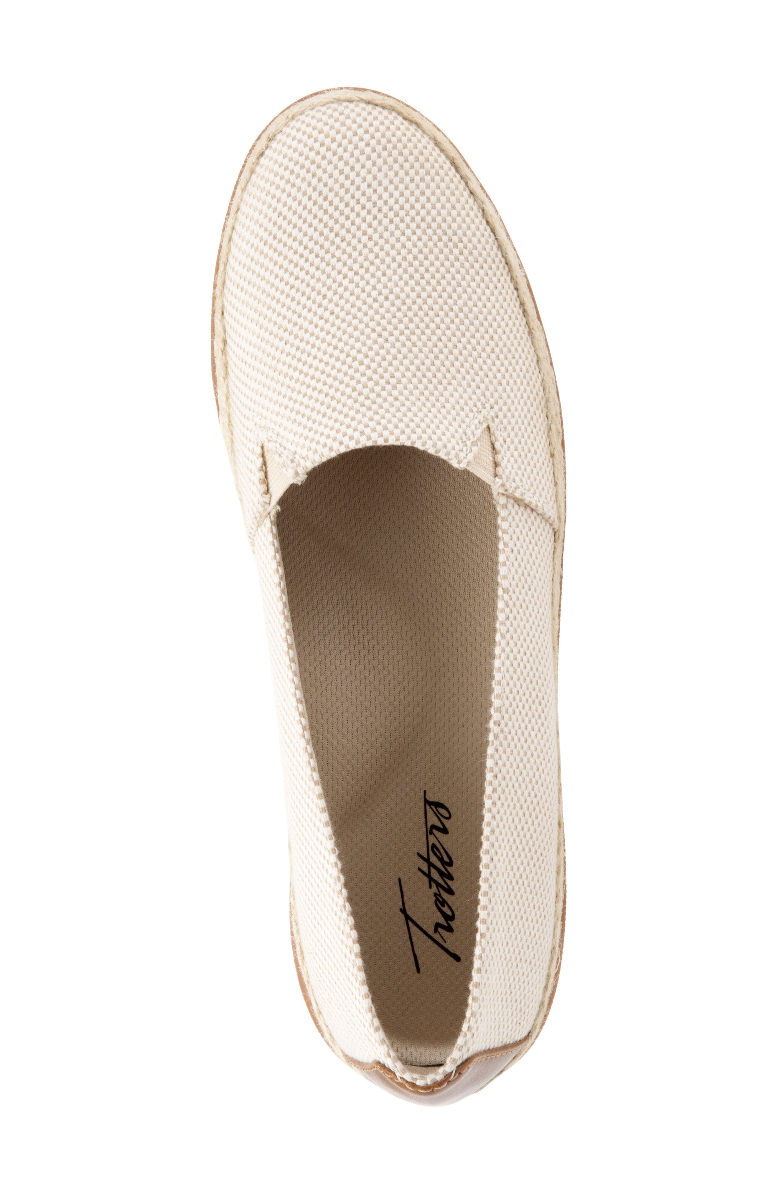 Accent Slip-On,                             Alternate thumbnail 5, color,                             NATURAL LINEN FABRIC