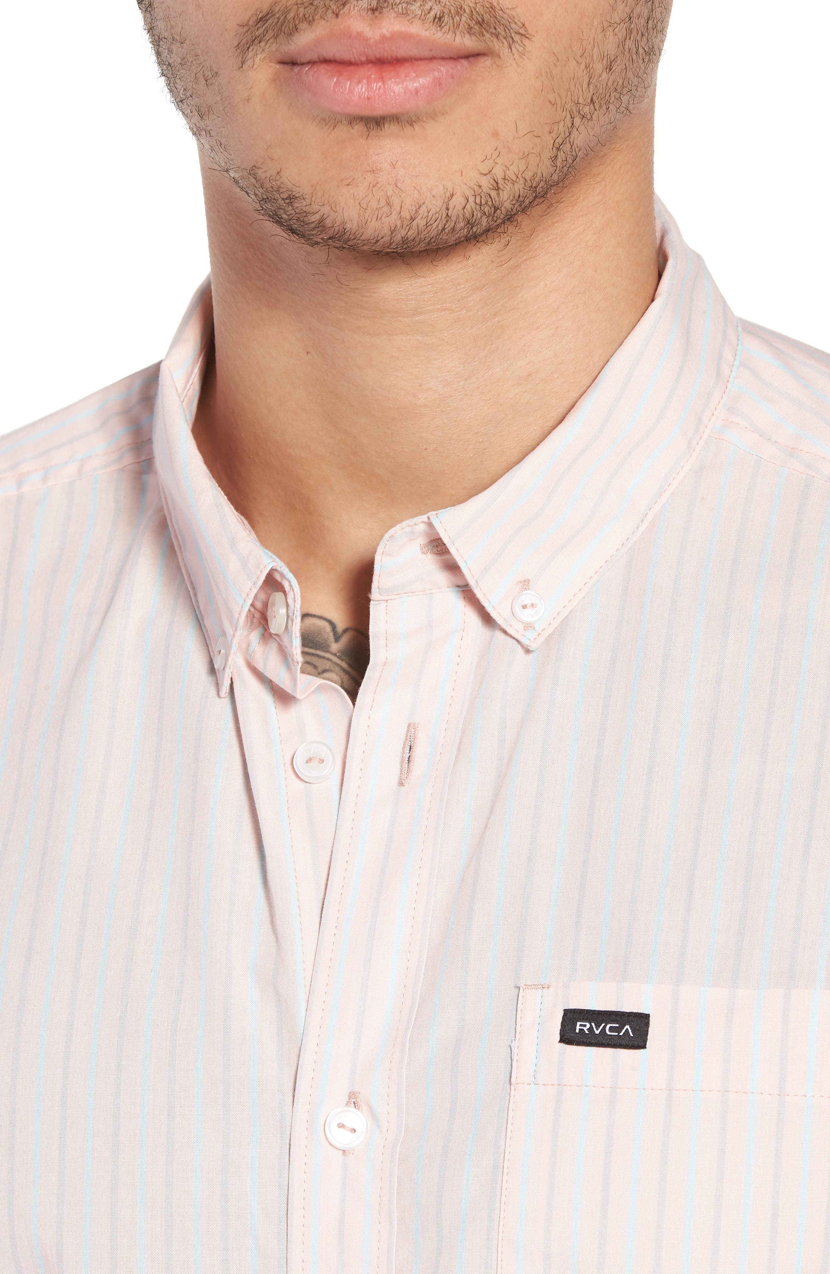 Everyday Stripe Shirt,                             Alternate thumbnail 4, color,                             653