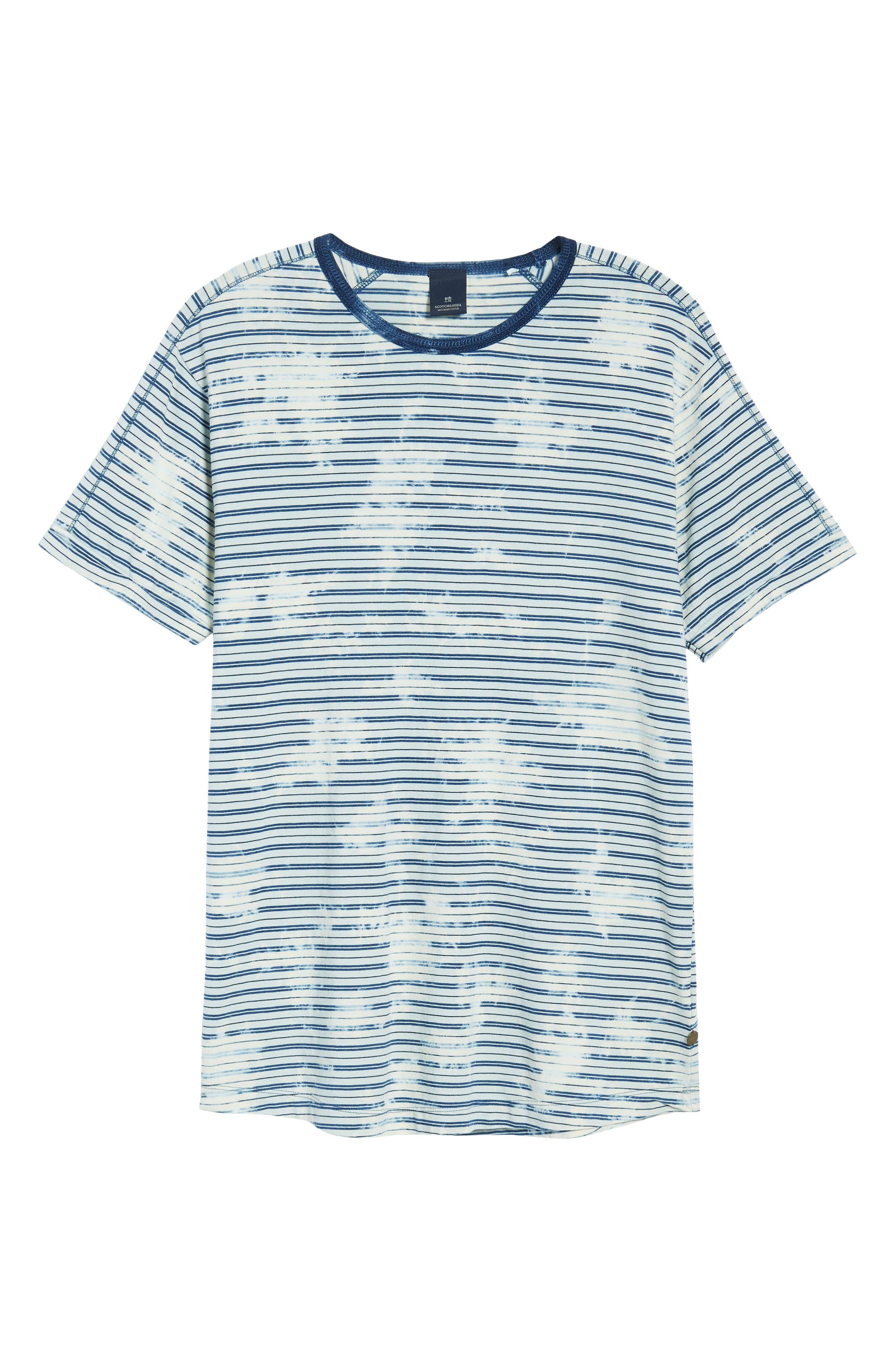 Washed Crewneck T-Shirt,                             Alternate thumbnail 6, color,                             400