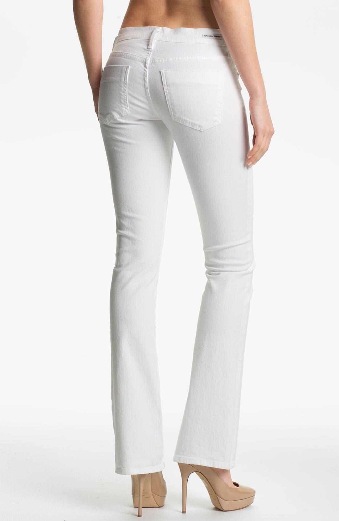 'Emmanuelle' Slim Bootcut Jeans,                             Alternate thumbnail 3, color,