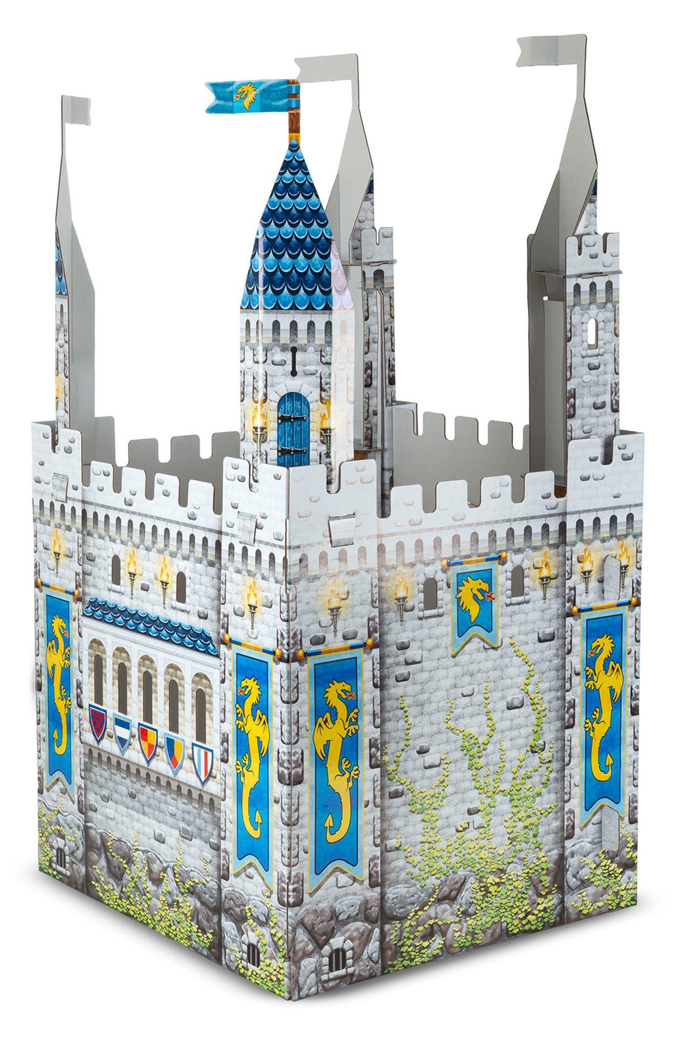 Cardboard Castle Playhouse,                             Alternate thumbnail 2, color,                             GREY