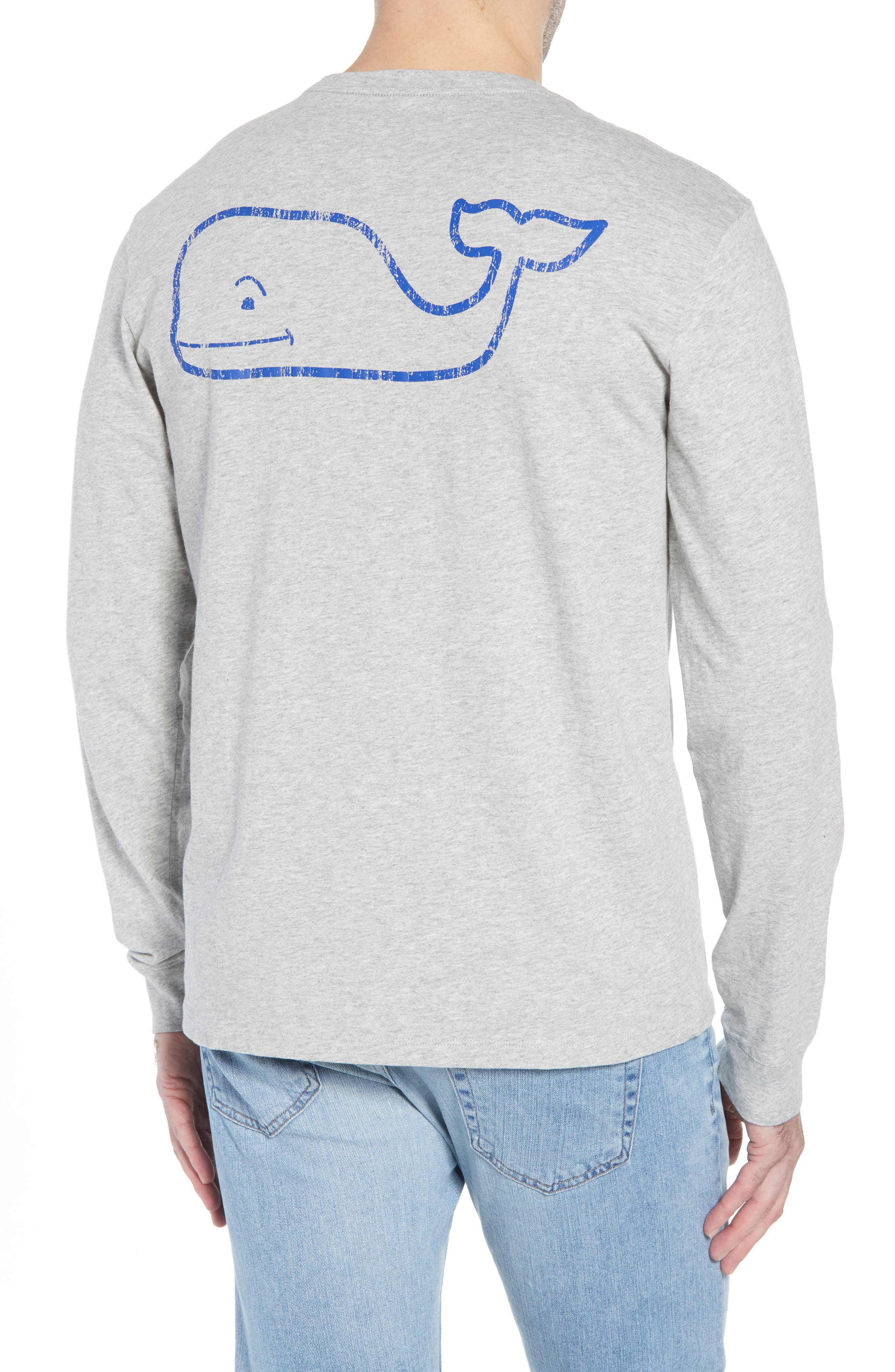 Vintage Whale Graphic Pocket T-Shirt,                             Alternate thumbnail 2, color,                             GREY