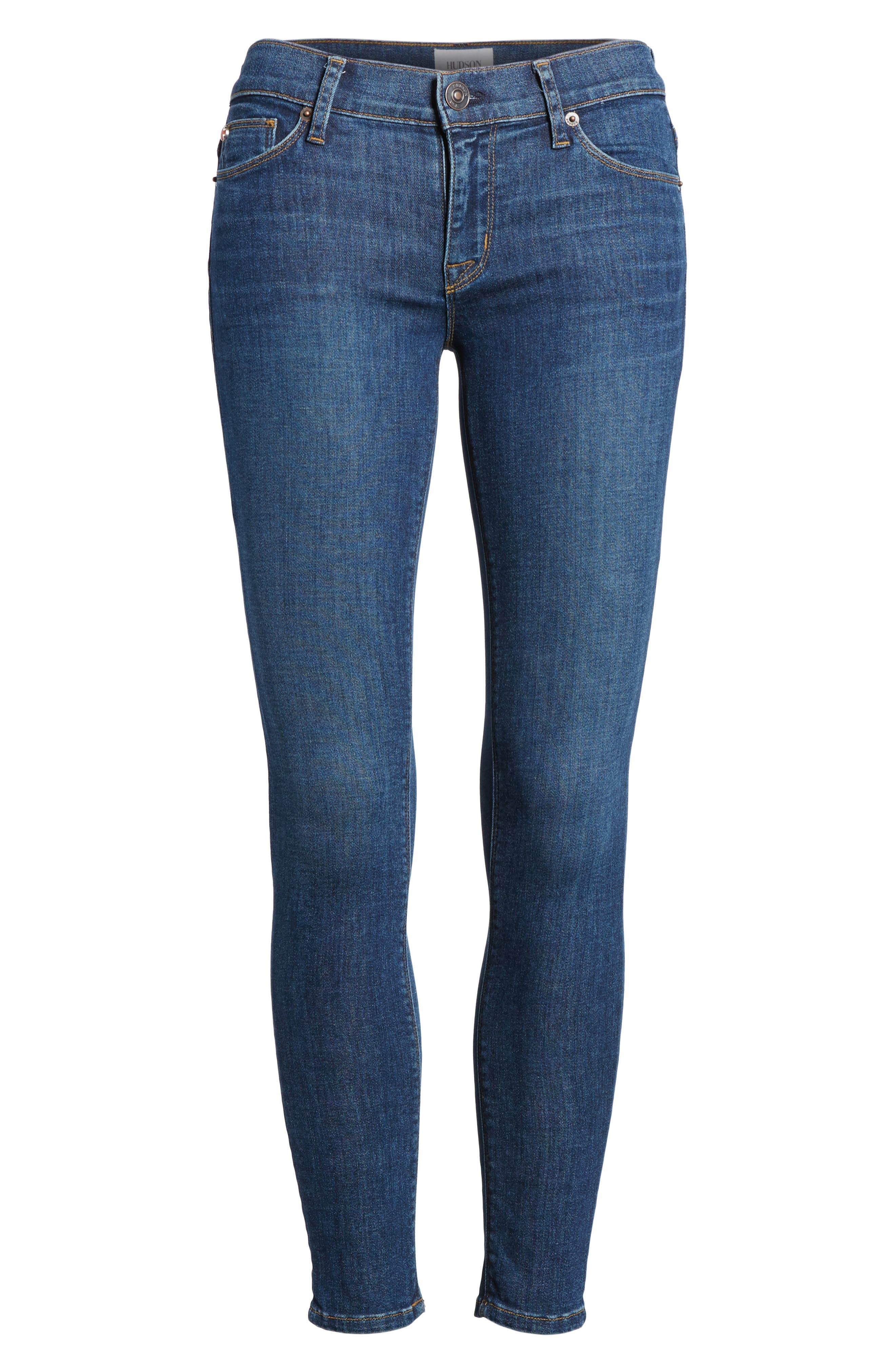 Krista Ankle Super Skinny Jeans,                             Alternate thumbnail 6, color,                             420