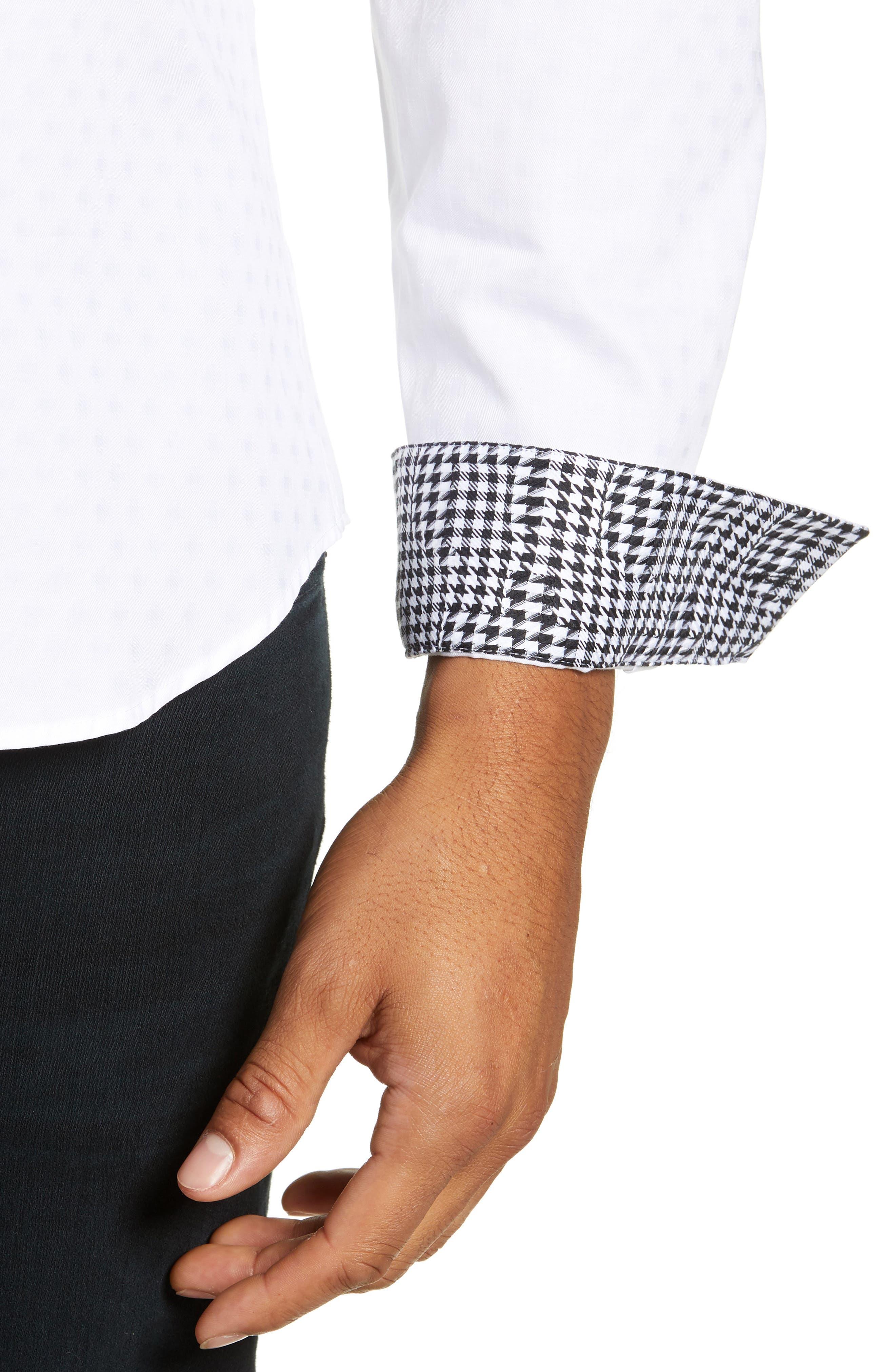 Trim Fit Sport Shirt,                             Alternate thumbnail 2, color,                             WHITE