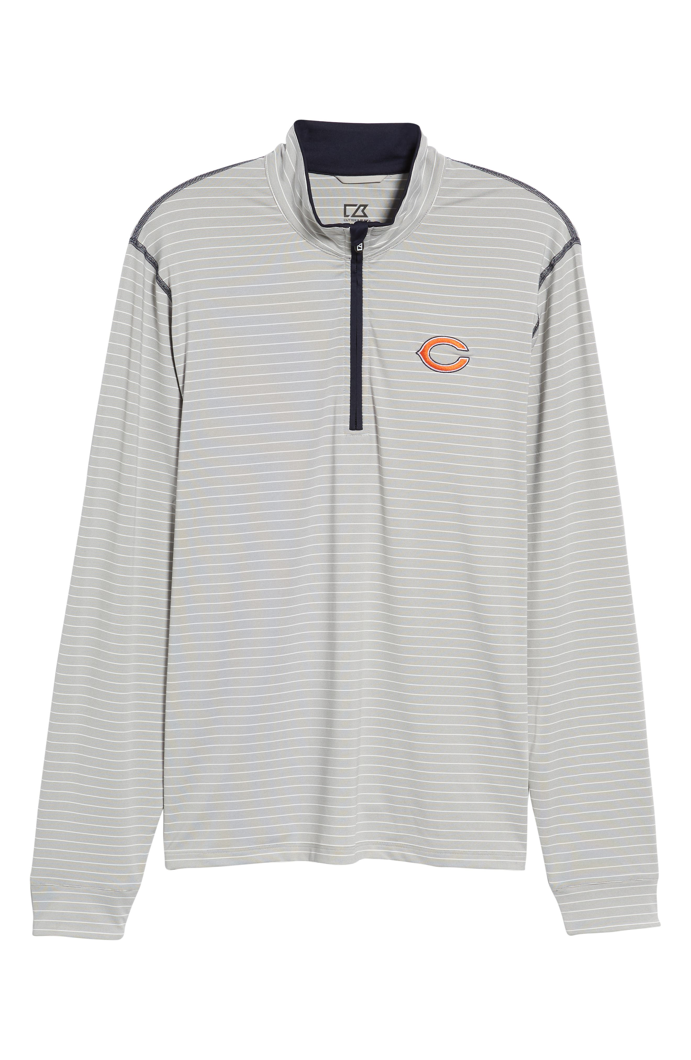 Chicago Bears - Meridian Half Zip Pullover,                             Alternate thumbnail 6, color,                             NAVY