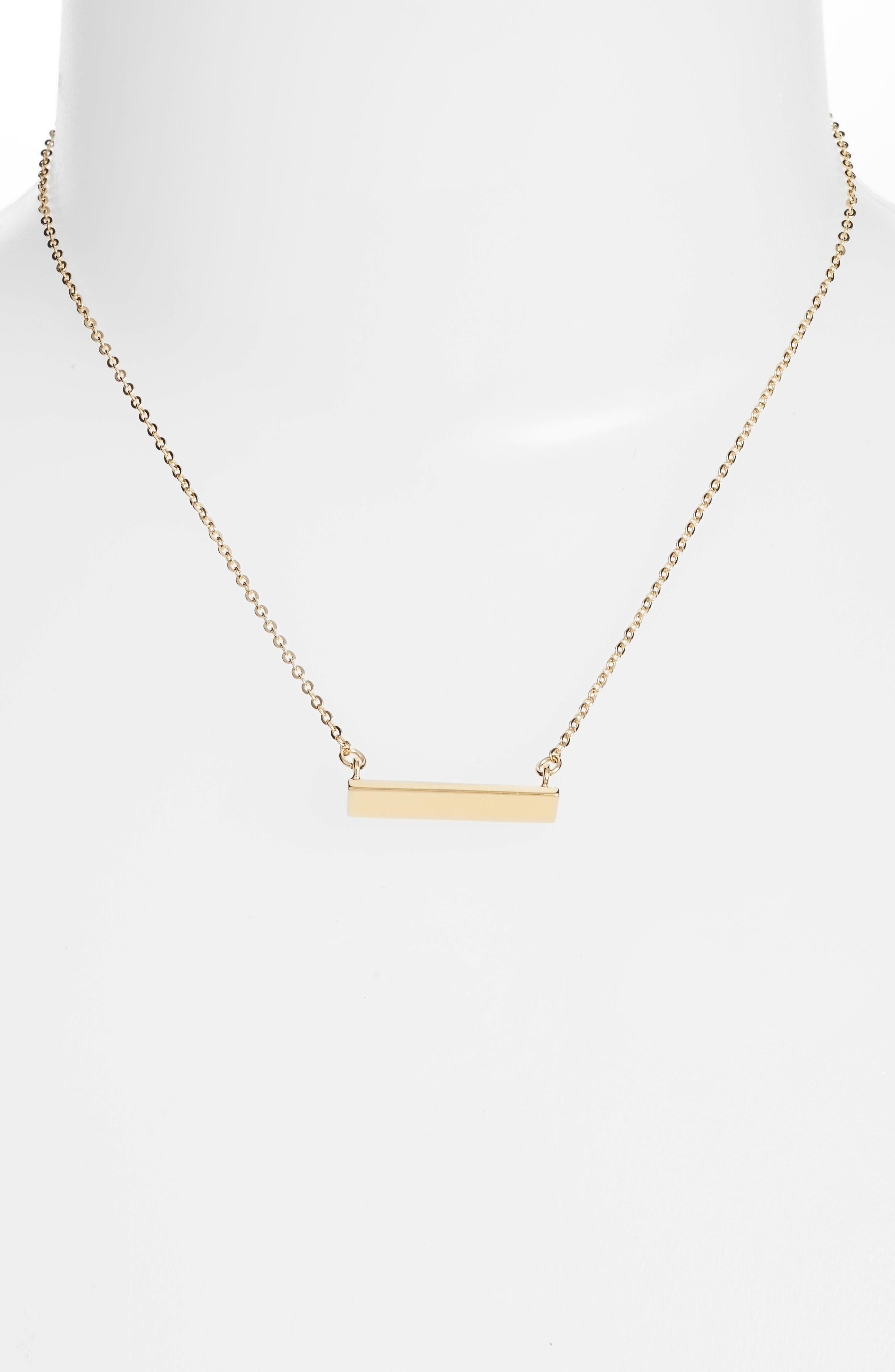 Diamond Shaped Bar Pendant Necklace,                         Main,                         color, GOLD