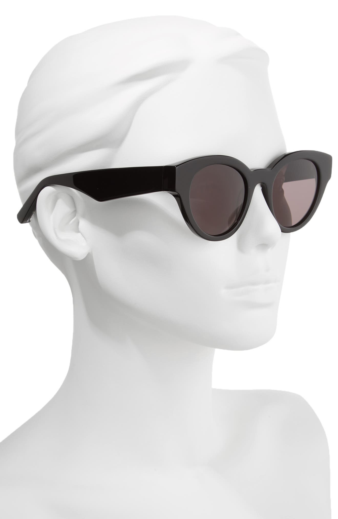 Payton 48mm Cat Eye Sunglasses,                             Alternate thumbnail 2, color,                             001