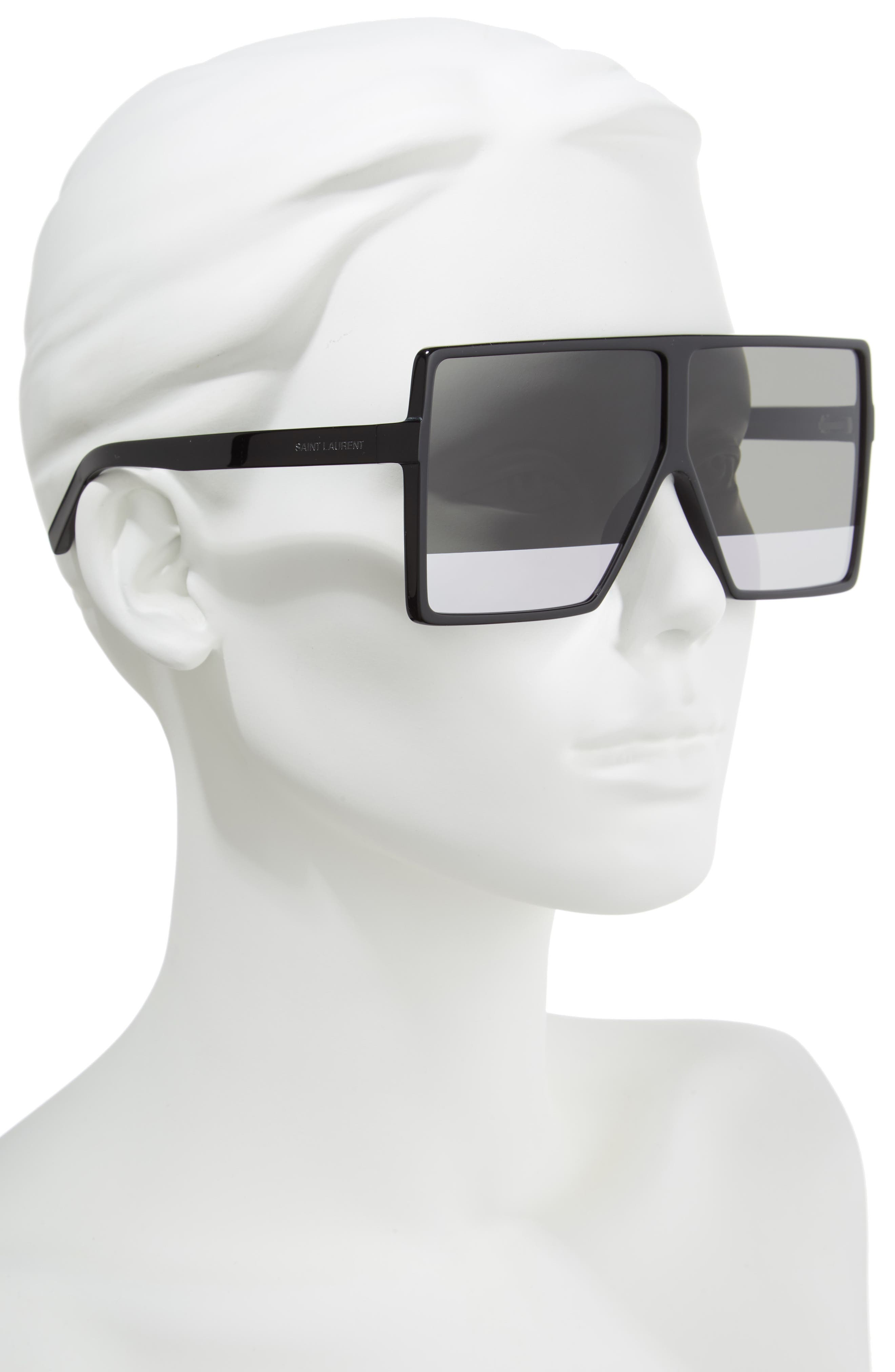 Betty 68mm Shield Sunglasses,                             Alternate thumbnail 2, color,                             005