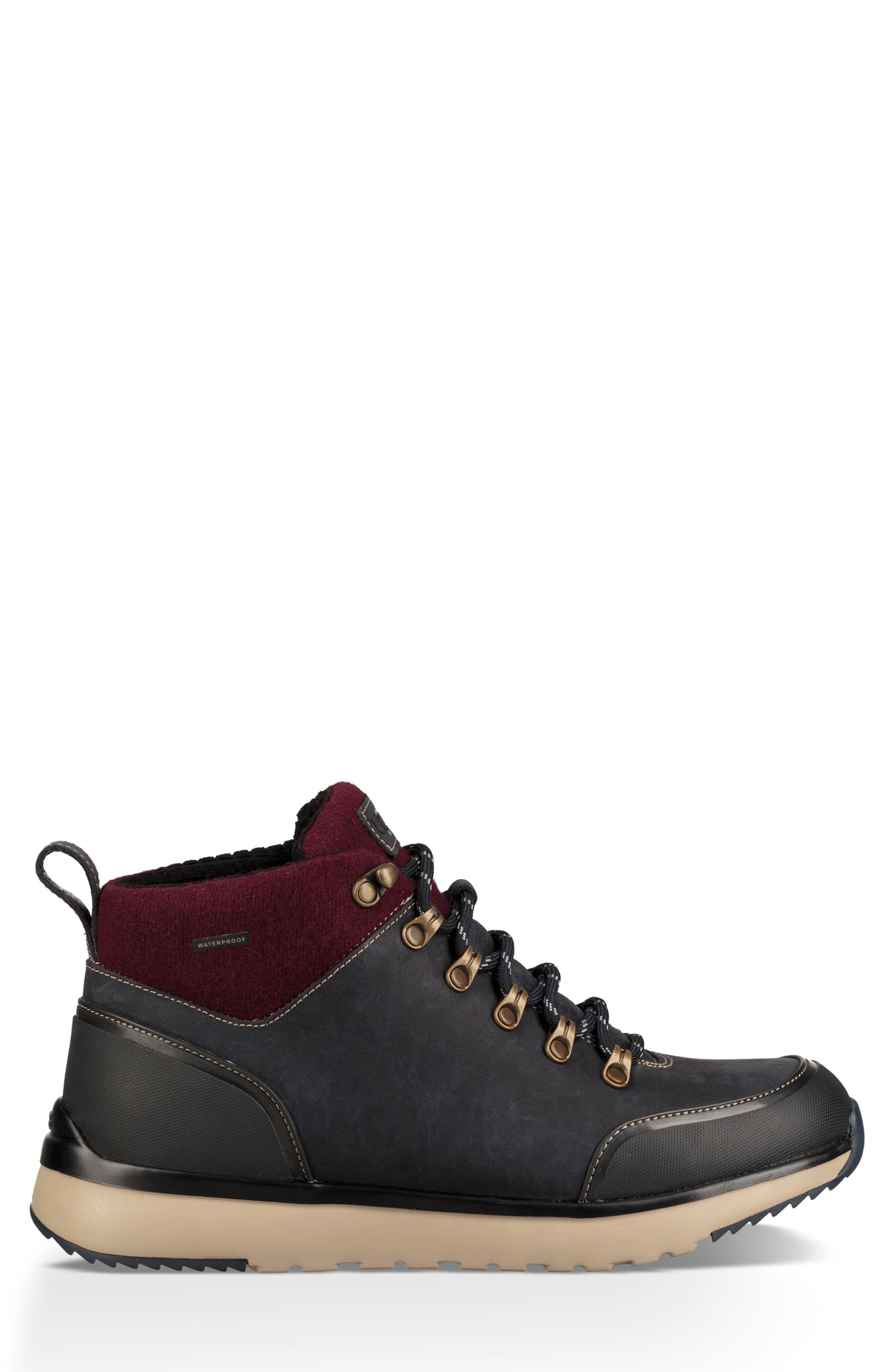 Olivert Hiking Waterproof Boot,                             Alternate thumbnail 3, color,                             NAVY