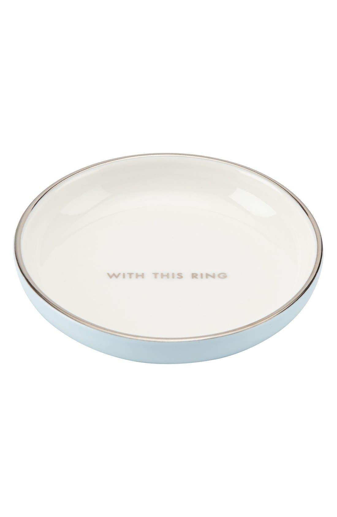 kate spade 'take the cake' ring dish,                             Main thumbnail 1, color,                             WHITE