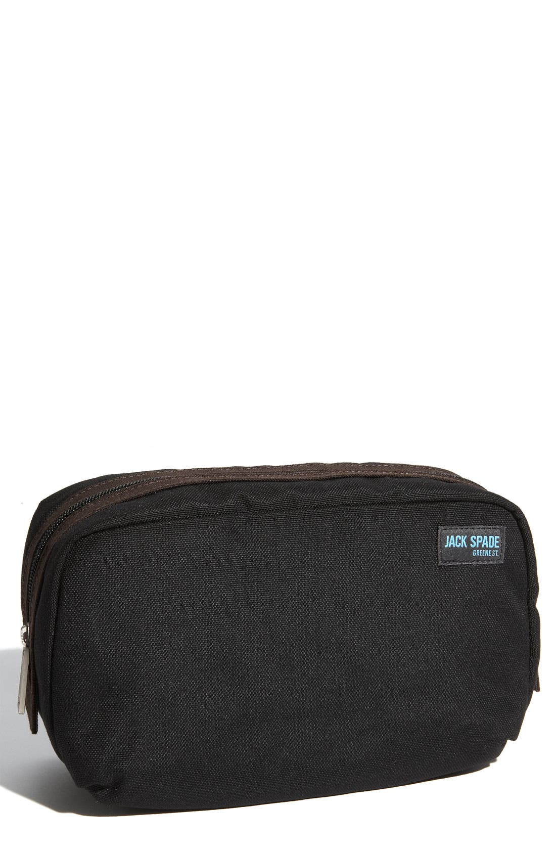 'Trad' Nylon Canvas Toiletry Bag,                             Main thumbnail 1, color,                             001