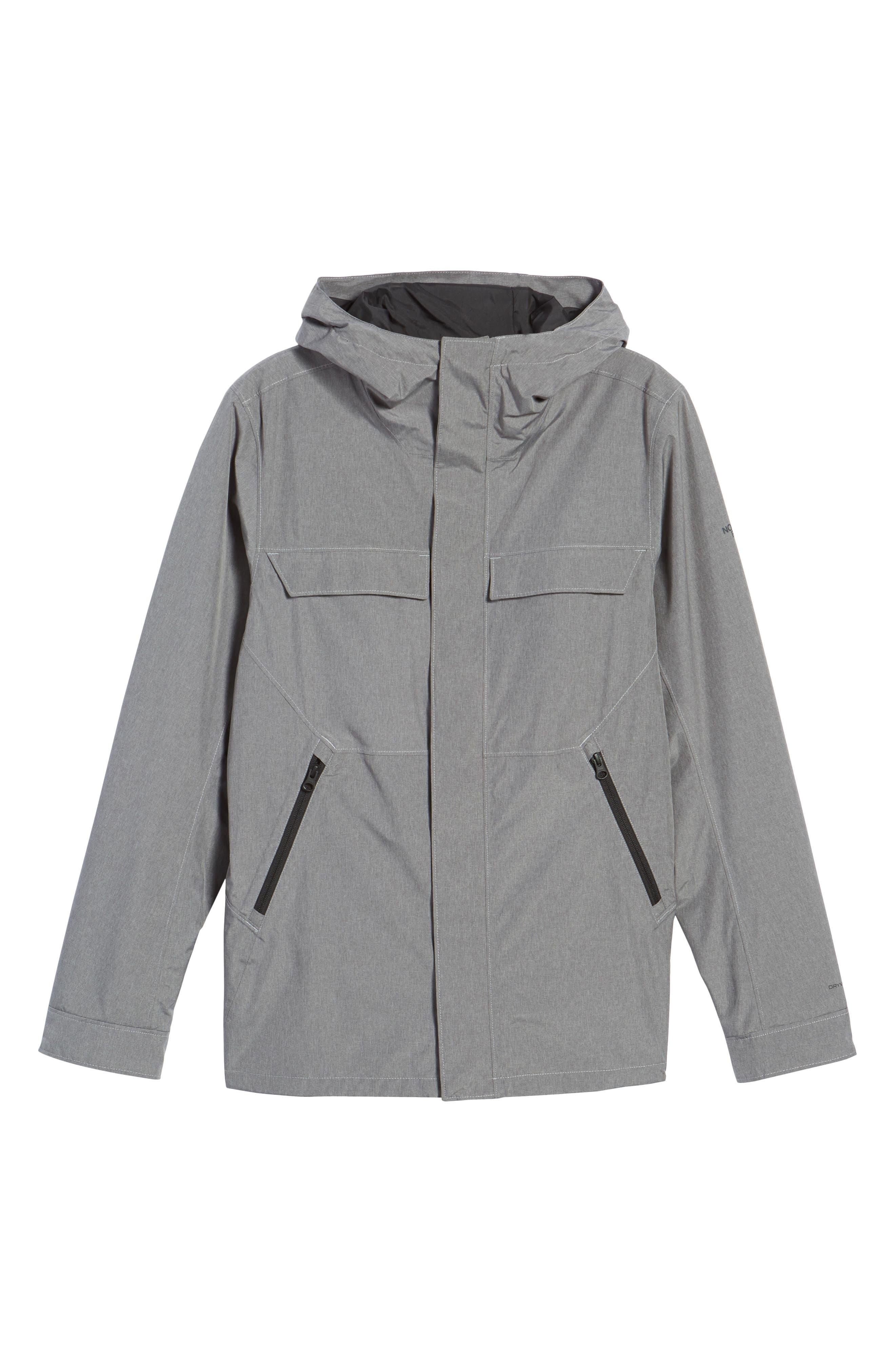 Jenison II Insulated Waterproof Jacket,                             Alternate thumbnail 5, color,                             TNF MEDIUM GREY HEATHER
