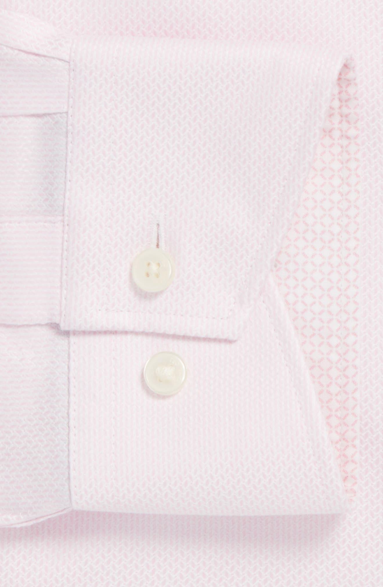 Endurance Trim Fit Geometric Dress Shirt,                             Main thumbnail 3, color,