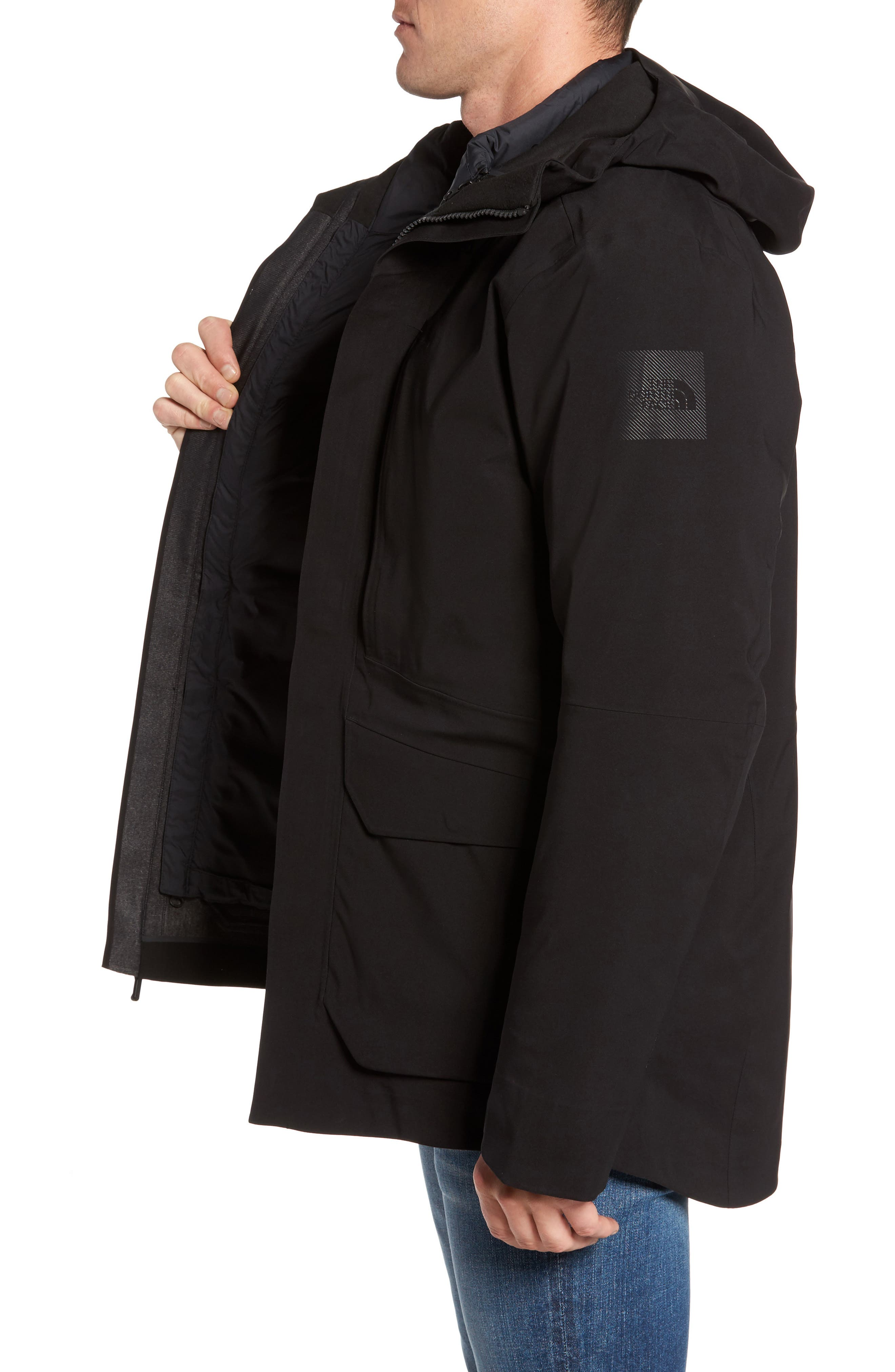 Cryos Gore-Tex<sup>®</sup> Tri-Climate 3-in-1 Jacket,                             Alternate thumbnail 3, color,                             TNF BLACK