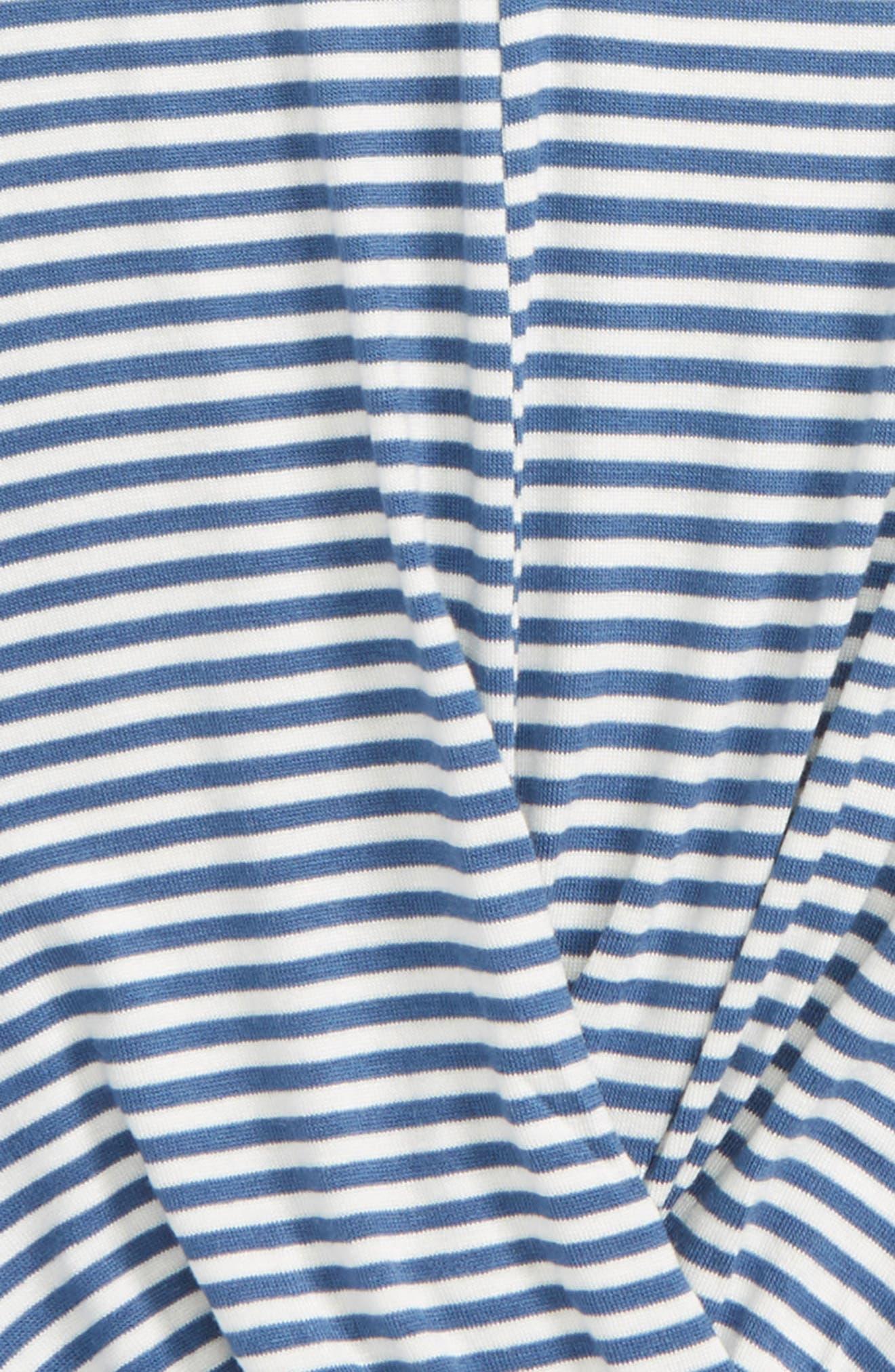 Gigi Stripe Knot Tee,                             Alternate thumbnail 2, color,                             400