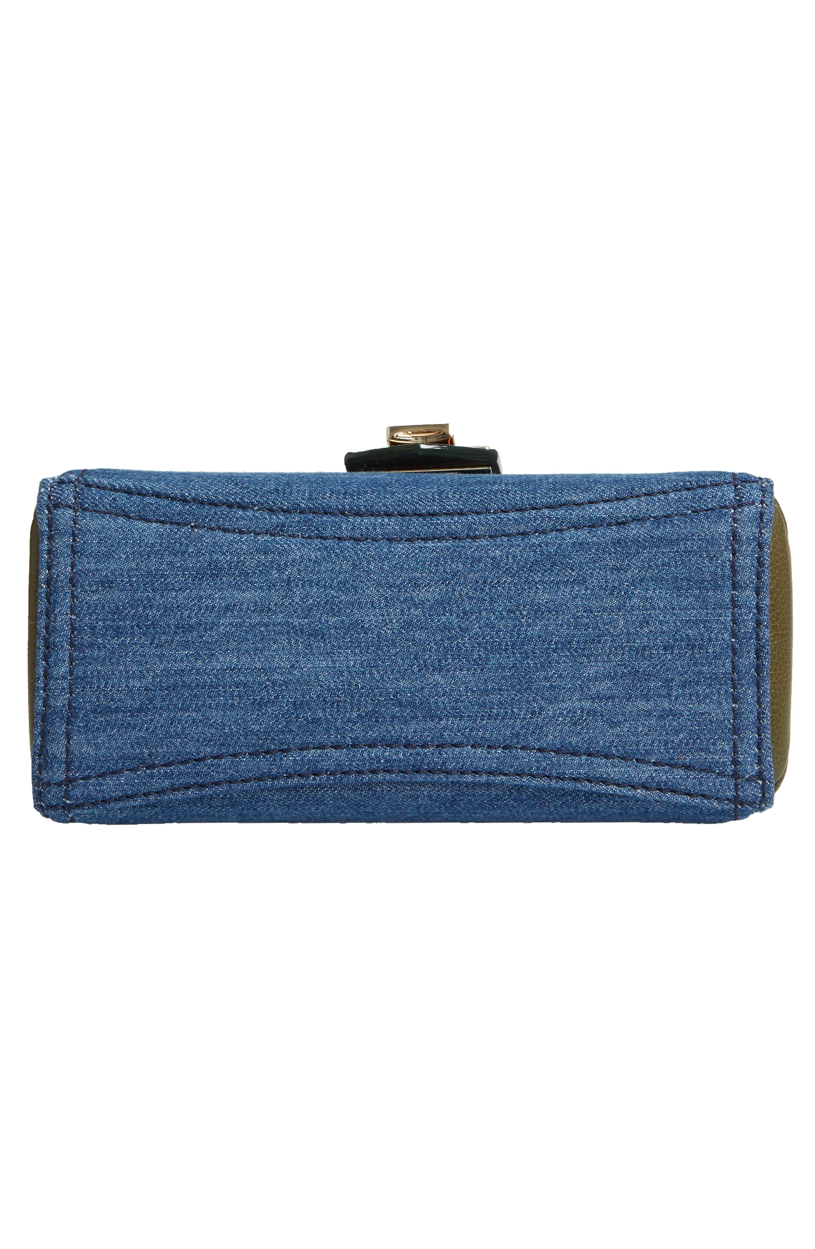 Marianne Leather & Genuine Snakeskin Crossbody Bag,                             Alternate thumbnail 7, color,                             NAVY MIX