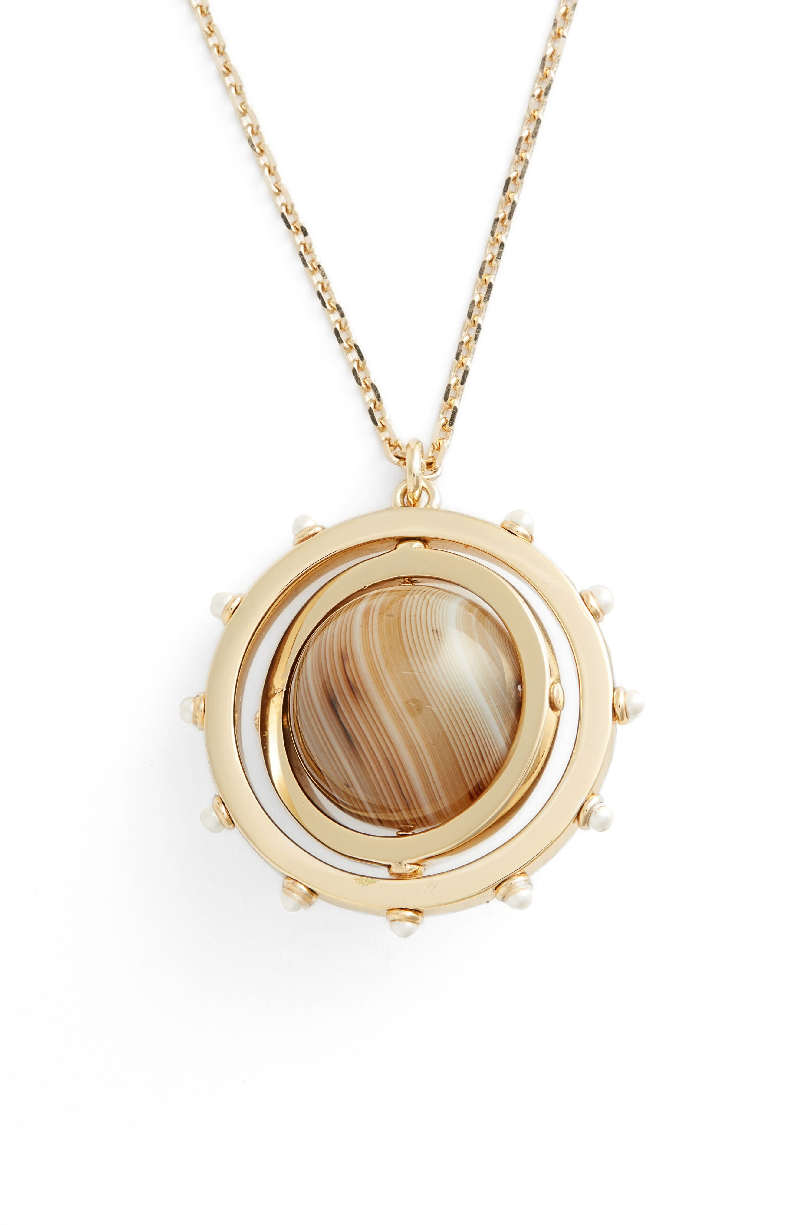 Spinning Pendant Necklace,                             Alternate thumbnail 3, color,