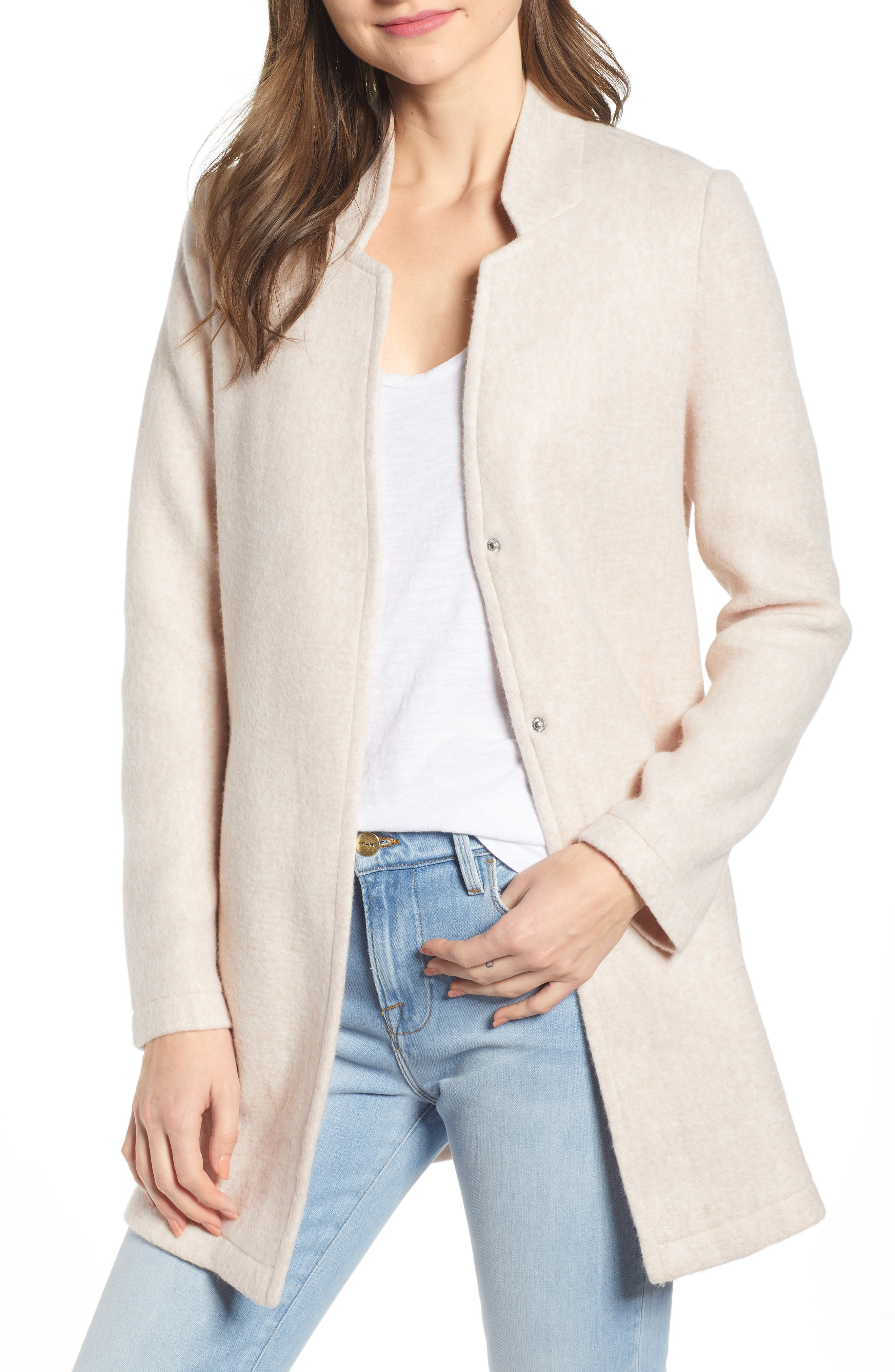 Vero Moda Katrine Brushed Fleece Jacket, Brown
