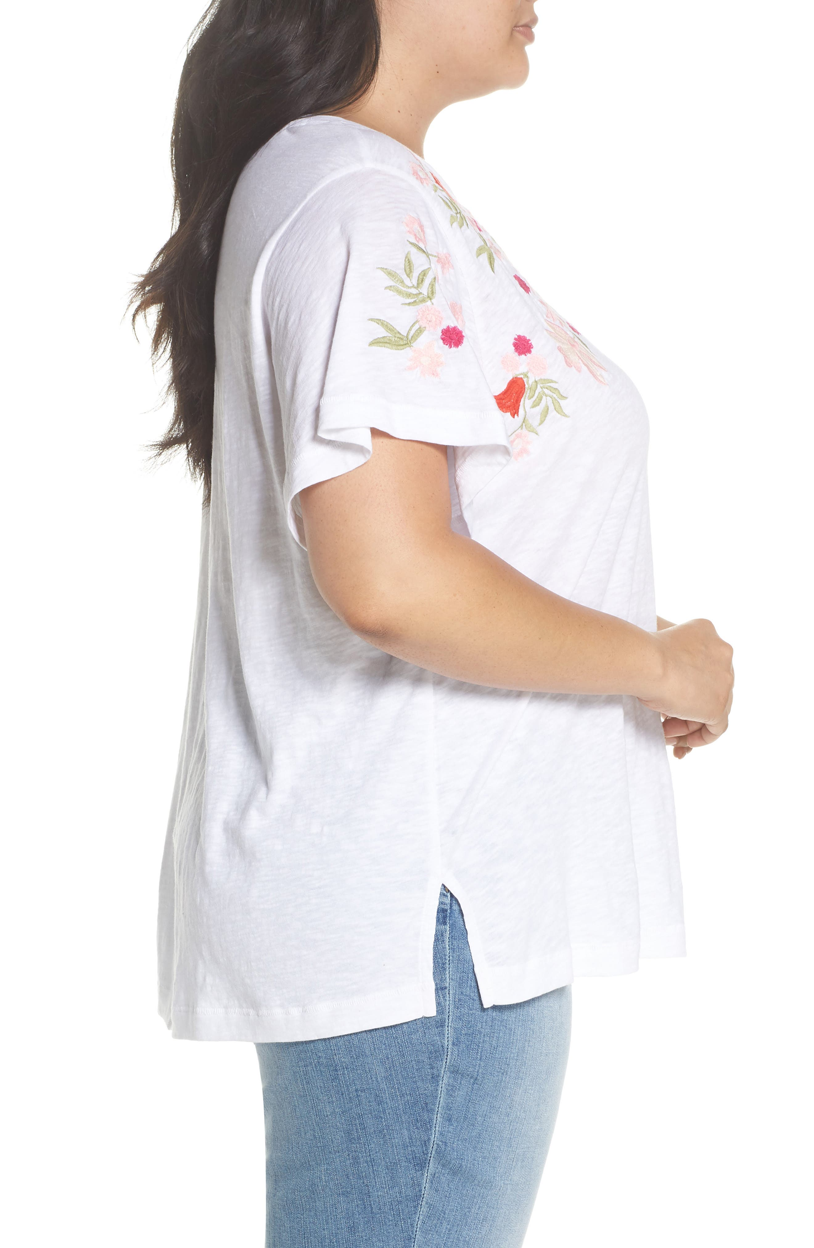 Embroidered Tee,                             Alternate thumbnail 3, color,                             101